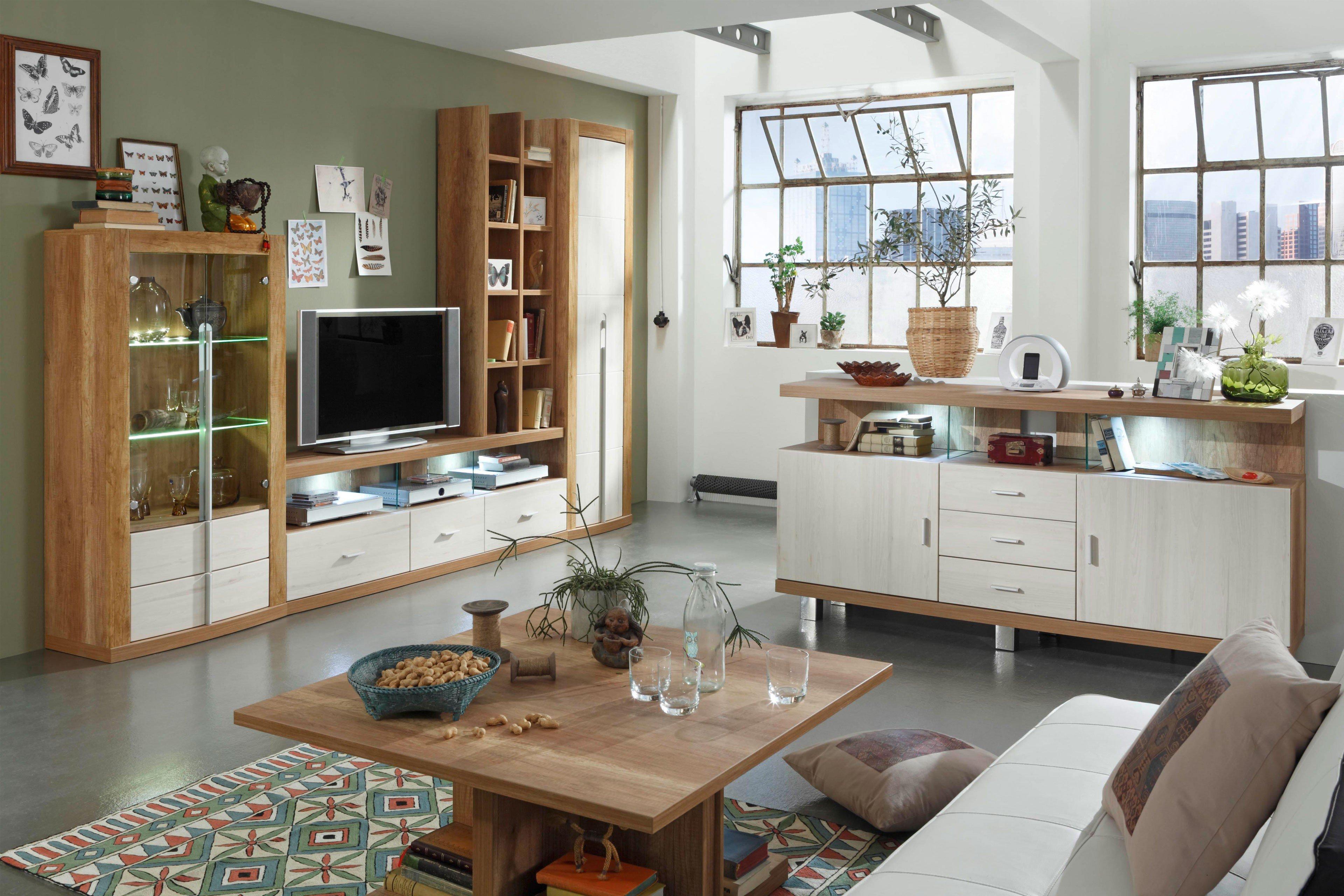 Prenneis Wohnwand Montreal Plus Goldeiche/ Tokai | Möbel Letz - Ihr ...