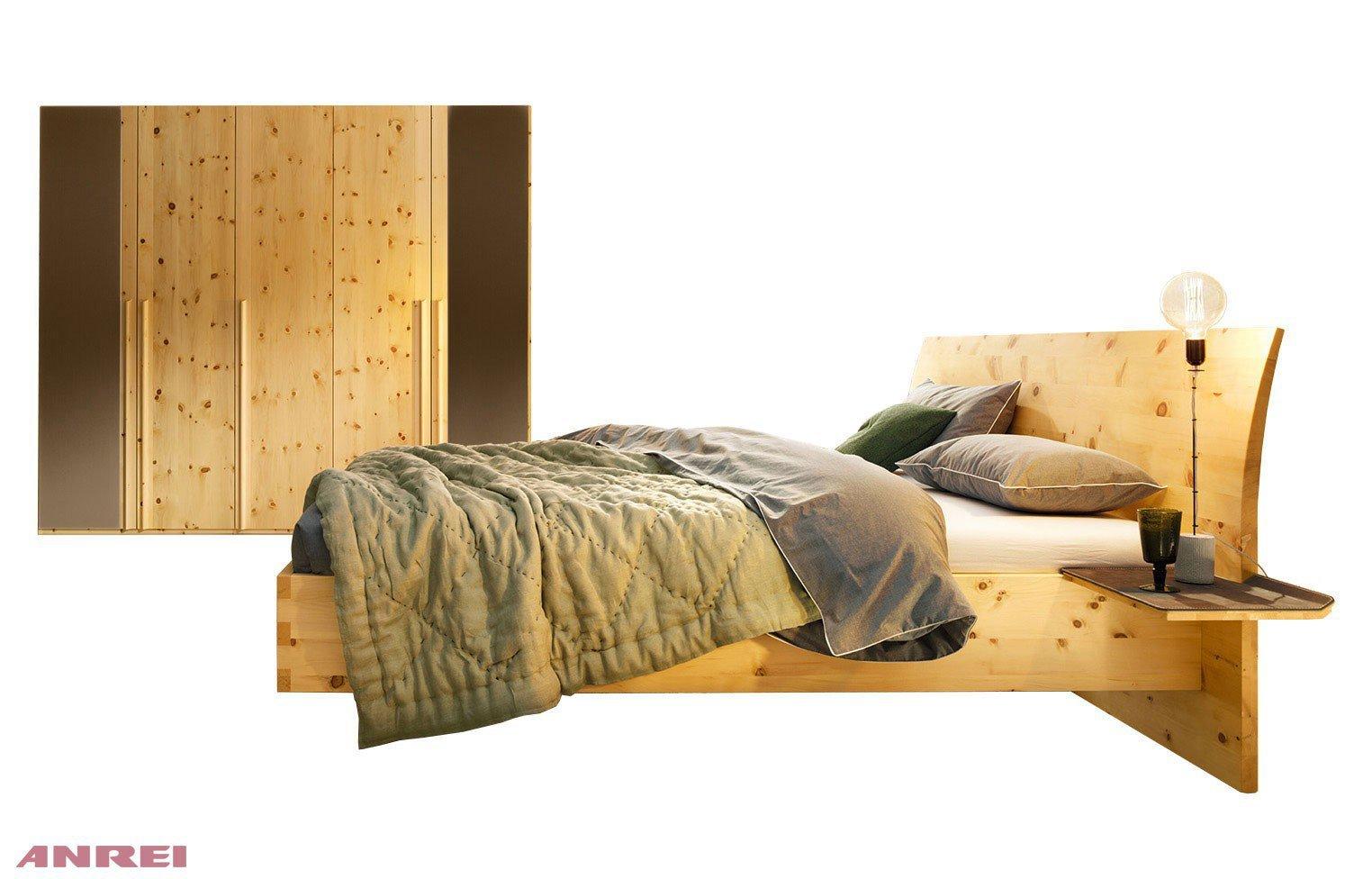 ... Anrei Möbel Schlafzimmer By Anrei Paso Schlafzimmer Set Steingrau Zirbe  M 246 Bel Letz ...
