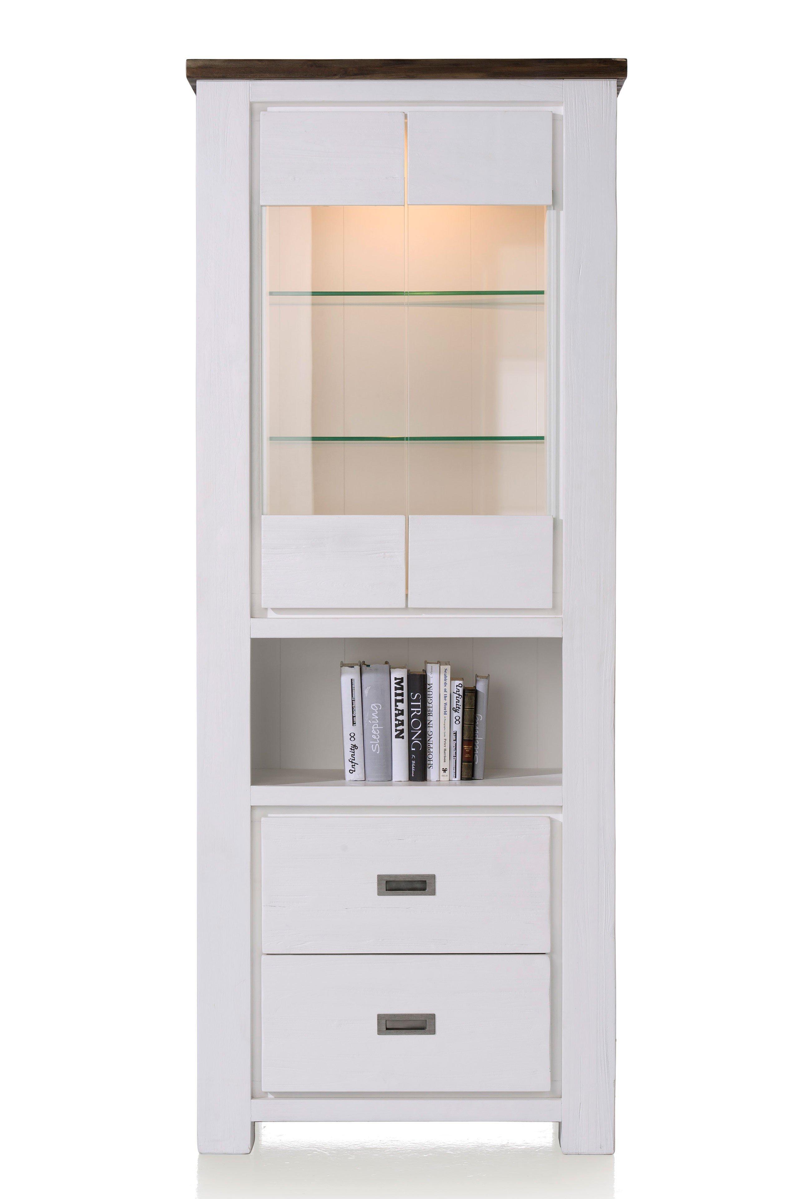 habufa vitrine deaumain akazie wei grau m bel letz ihr online shop. Black Bedroom Furniture Sets. Home Design Ideas