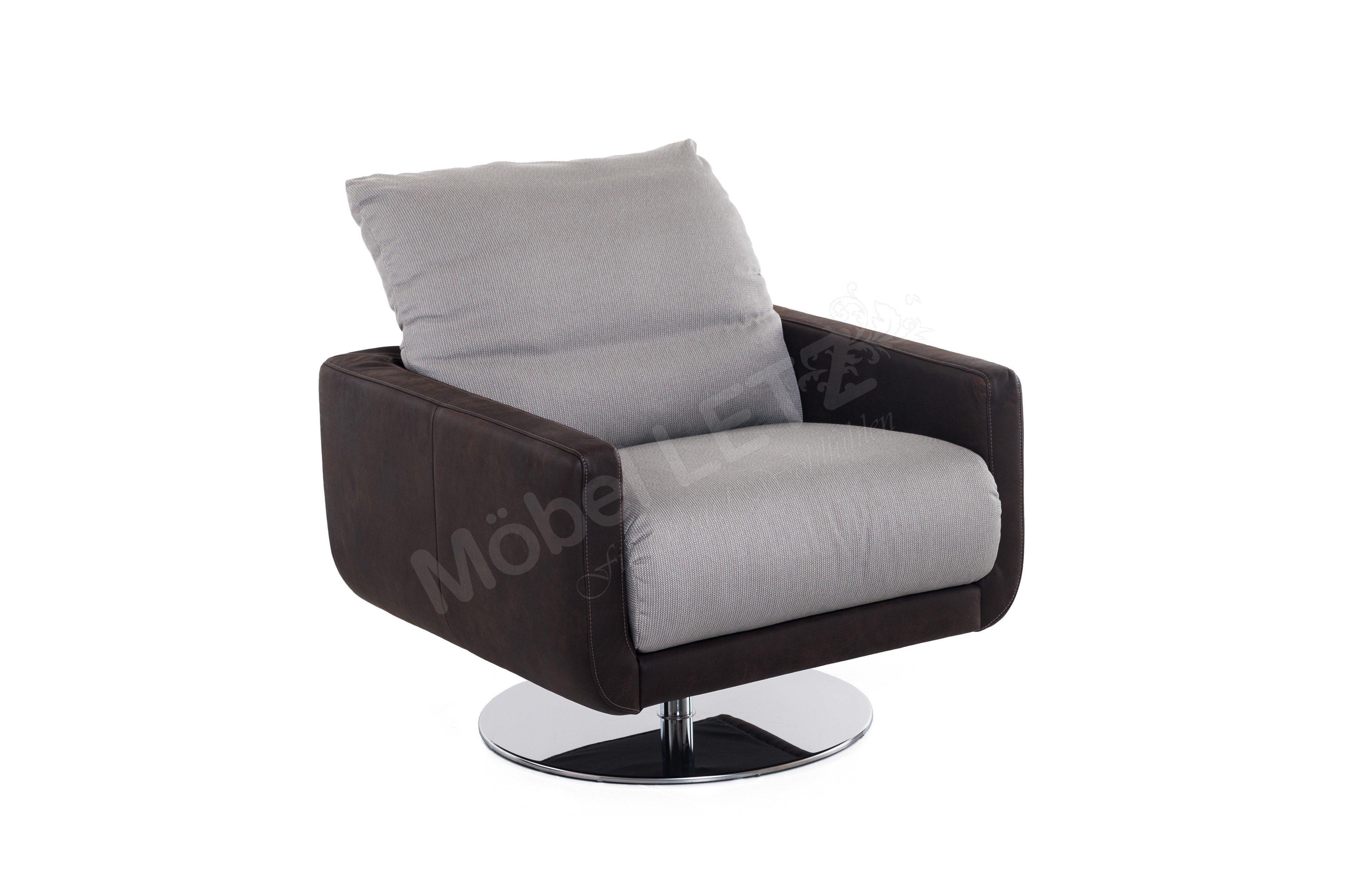 willi schillig 29600 mademoiselle drehsessel braun grau m bel letz ihr online shop. Black Bedroom Furniture Sets. Home Design Ideas