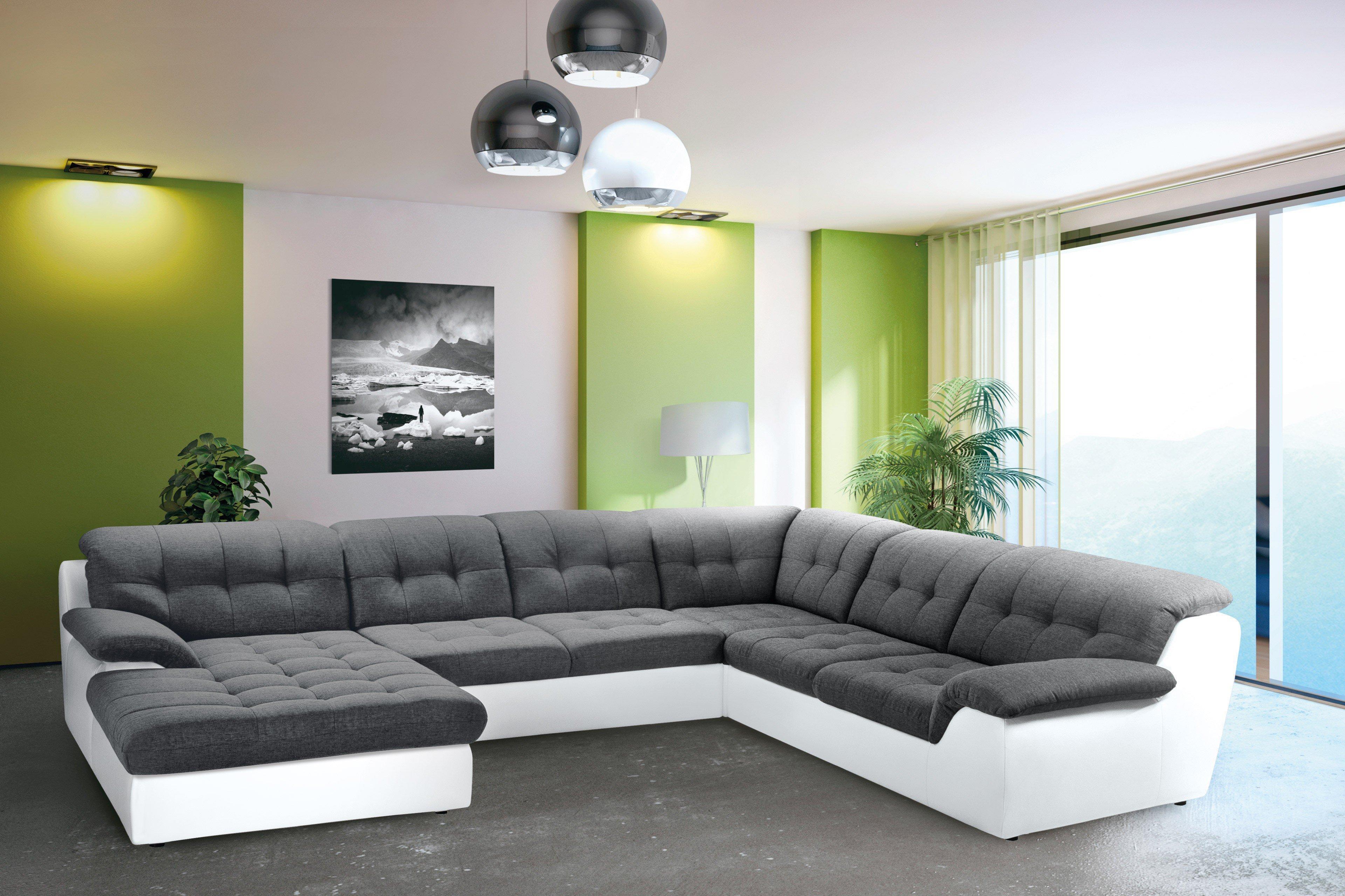 Nova Via Concorde Wohnlandschaft Grau Weiß Möbel Letz Ihr Online