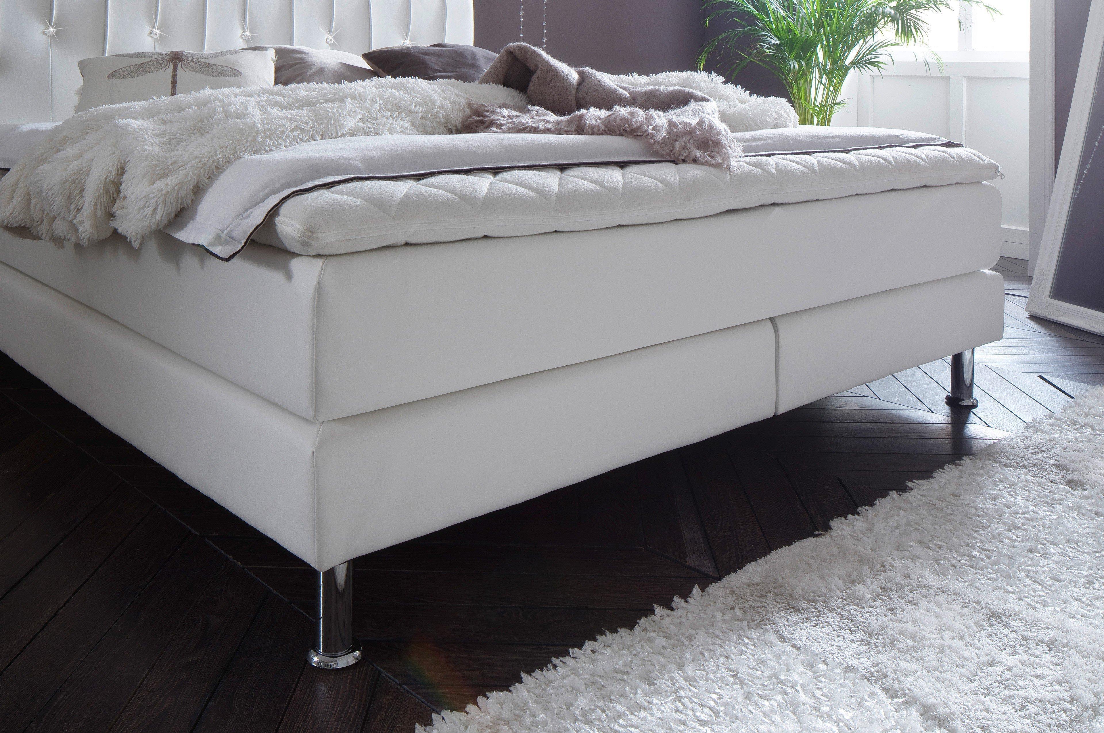 meise boxspringbett meteor in wei mit swarovski kristallen m bel letz ihr online shop. Black Bedroom Furniture Sets. Home Design Ideas