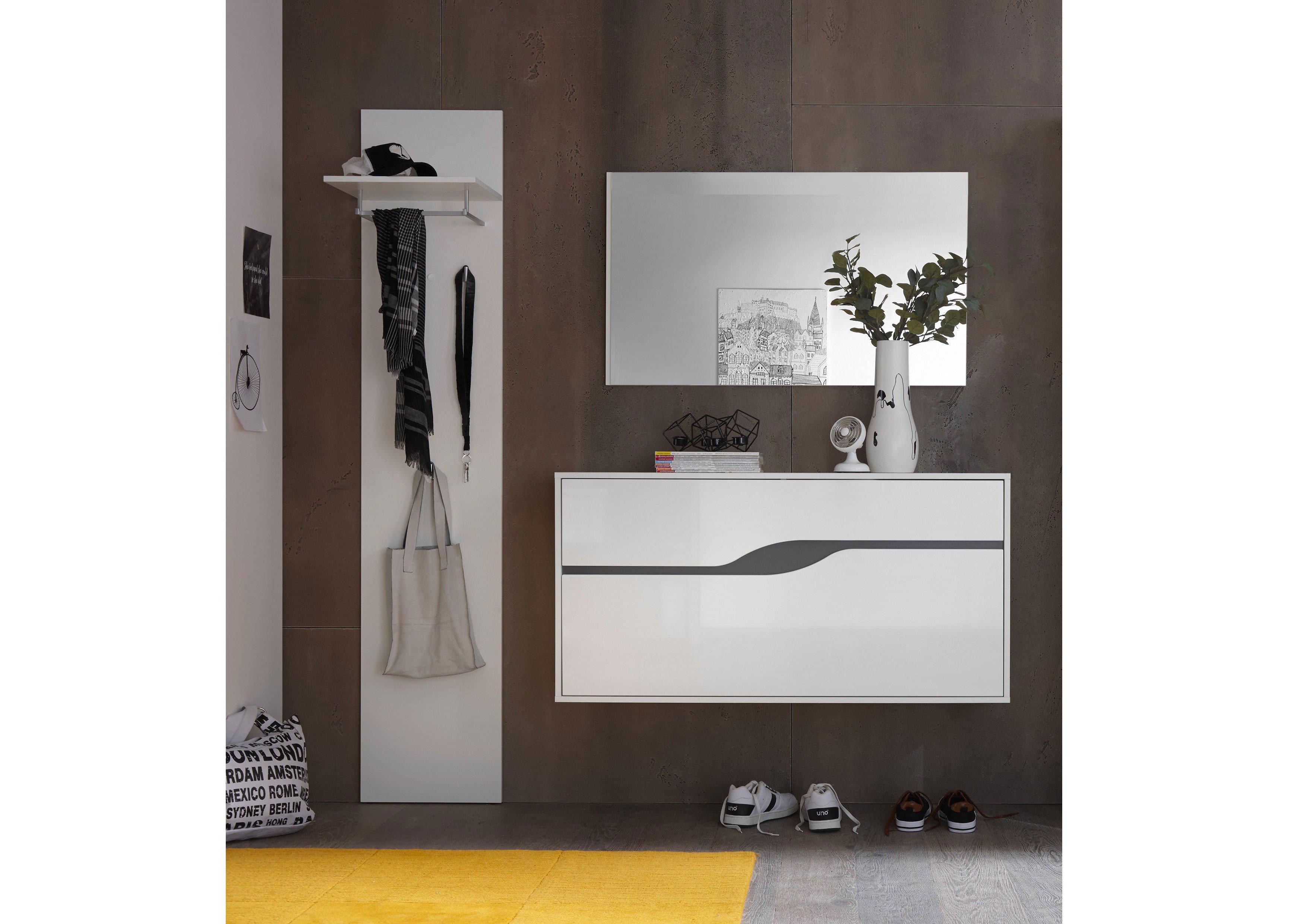 First Look Garderobe Wave Weiss Grau Mobel Letz Ihr Online Shop