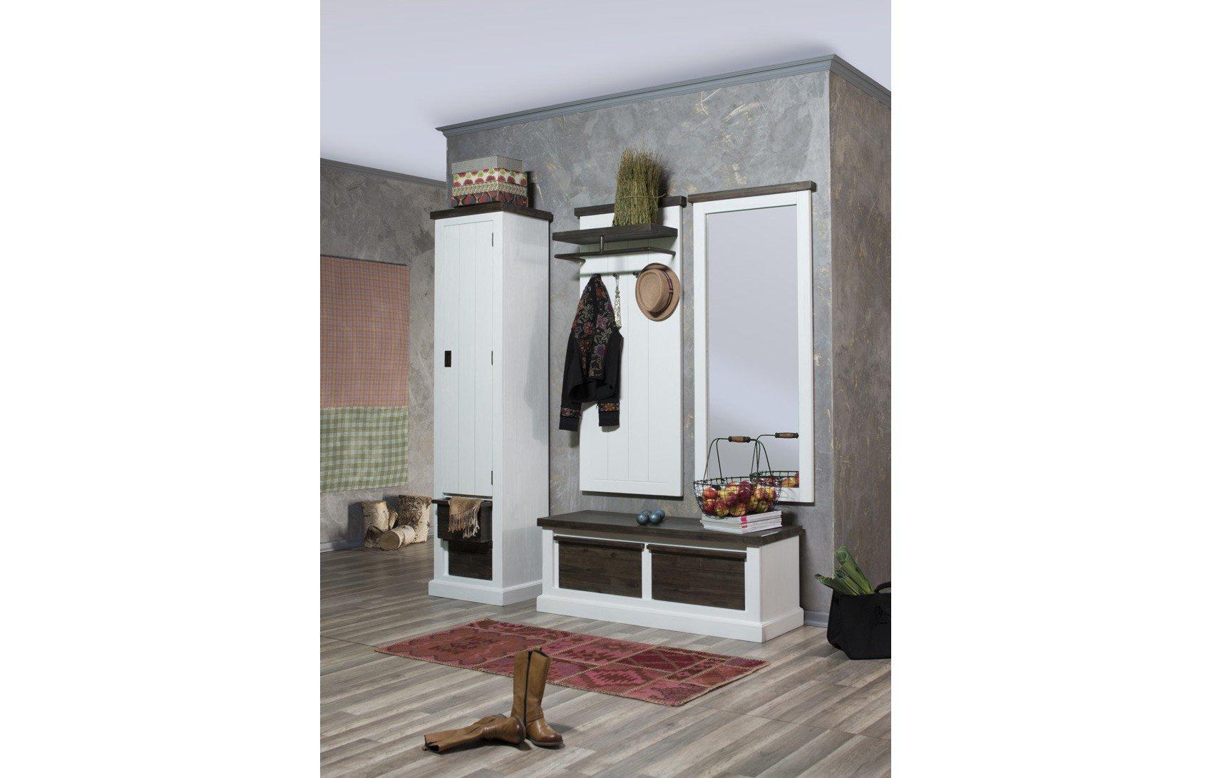 Loft Von Ideal Group   Garderobe Aus Akazie, Weiß Braun