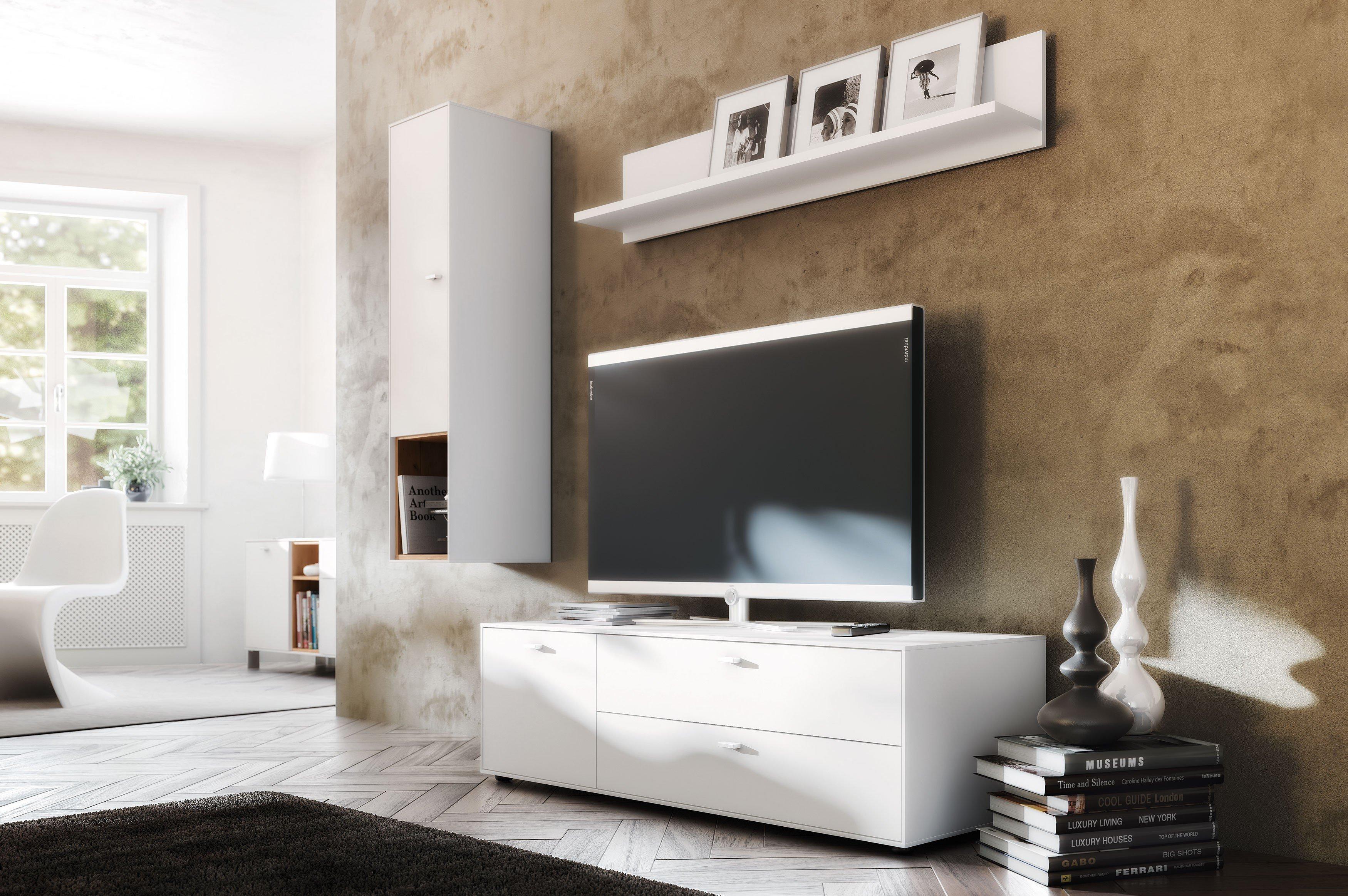 Germania Wohnwand Design2 weiß | Möbel Letz - Ihr Online-Shop