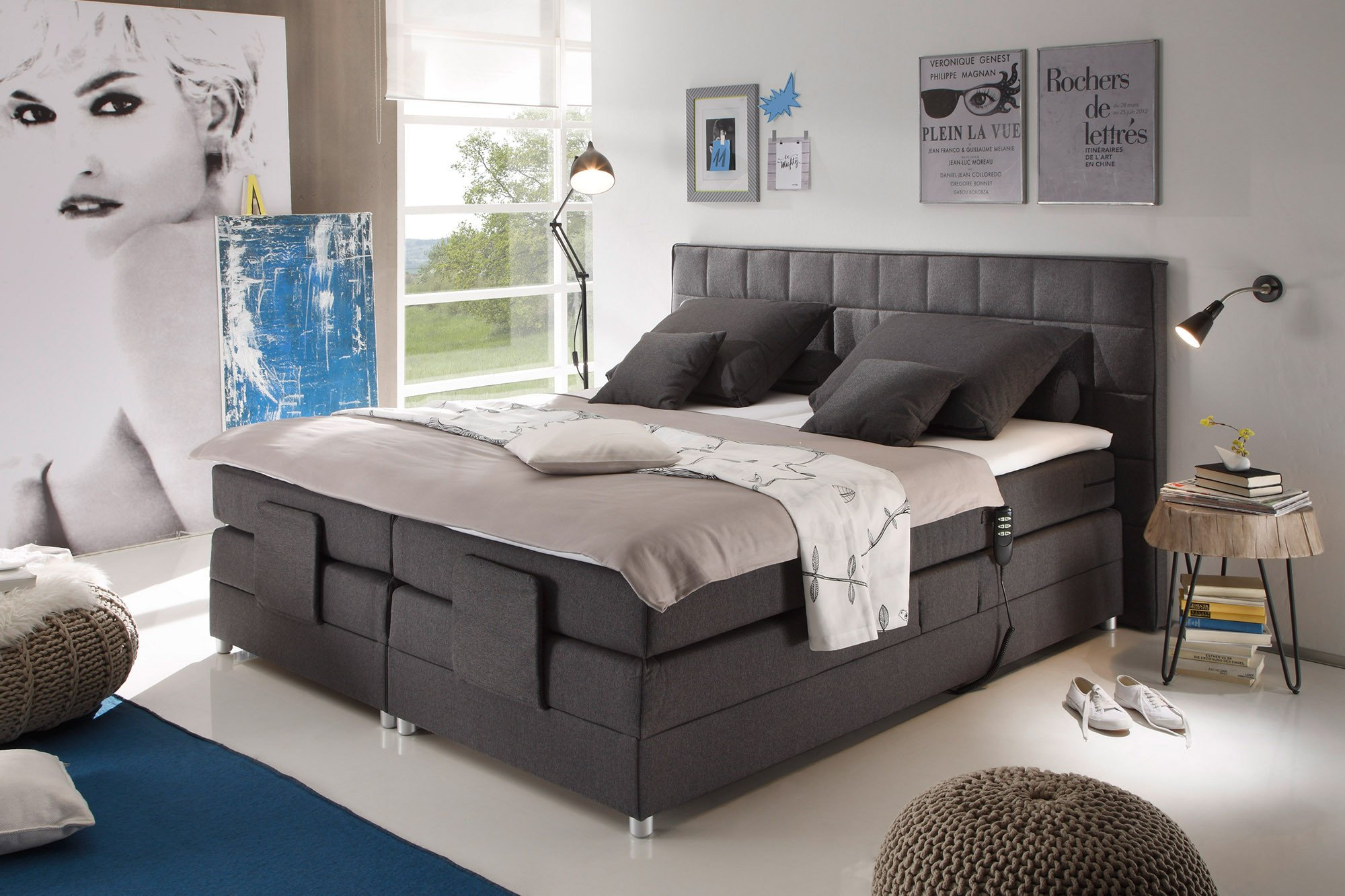 black red white boxspringbett montana mit kopf und fu teilverstellung m bel letz ihr online. Black Bedroom Furniture Sets. Home Design Ideas