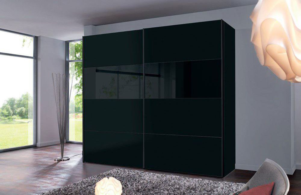 kleiderschrank schwarz 300 cm schwebet renschrank escape. Black Bedroom Furniture Sets. Home Design Ideas