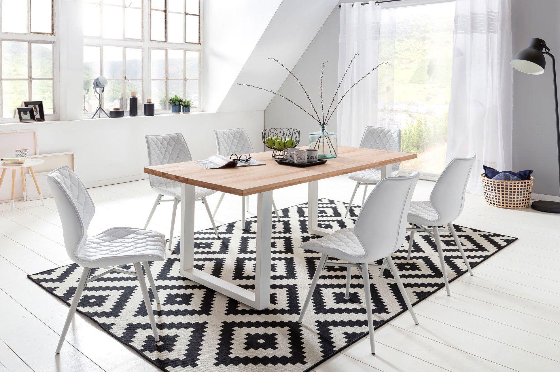 Tisch Palm Beach Buche Kufengestell Weiß Von Massivdirekt Möbel