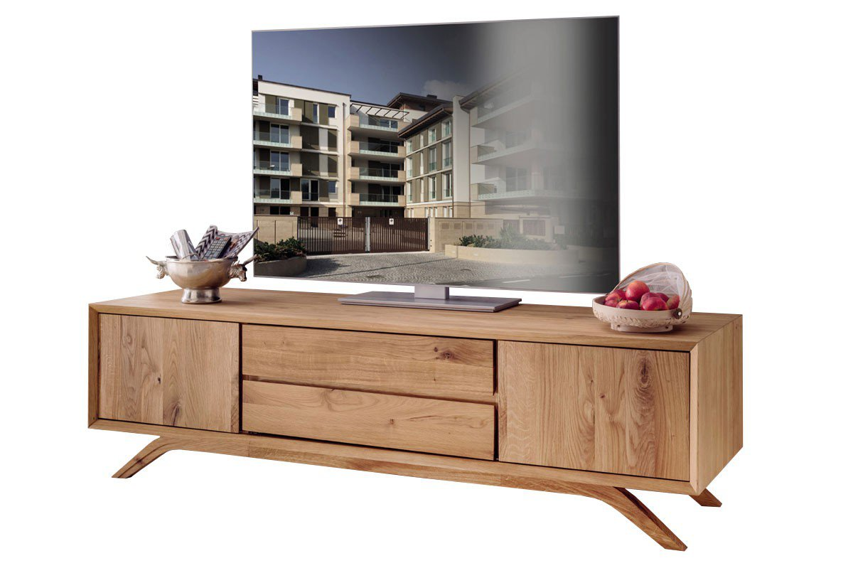 pure natur tv lowboard kiruna wildeiche massiv m bel letz ihr online shop. Black Bedroom Furniture Sets. Home Design Ideas