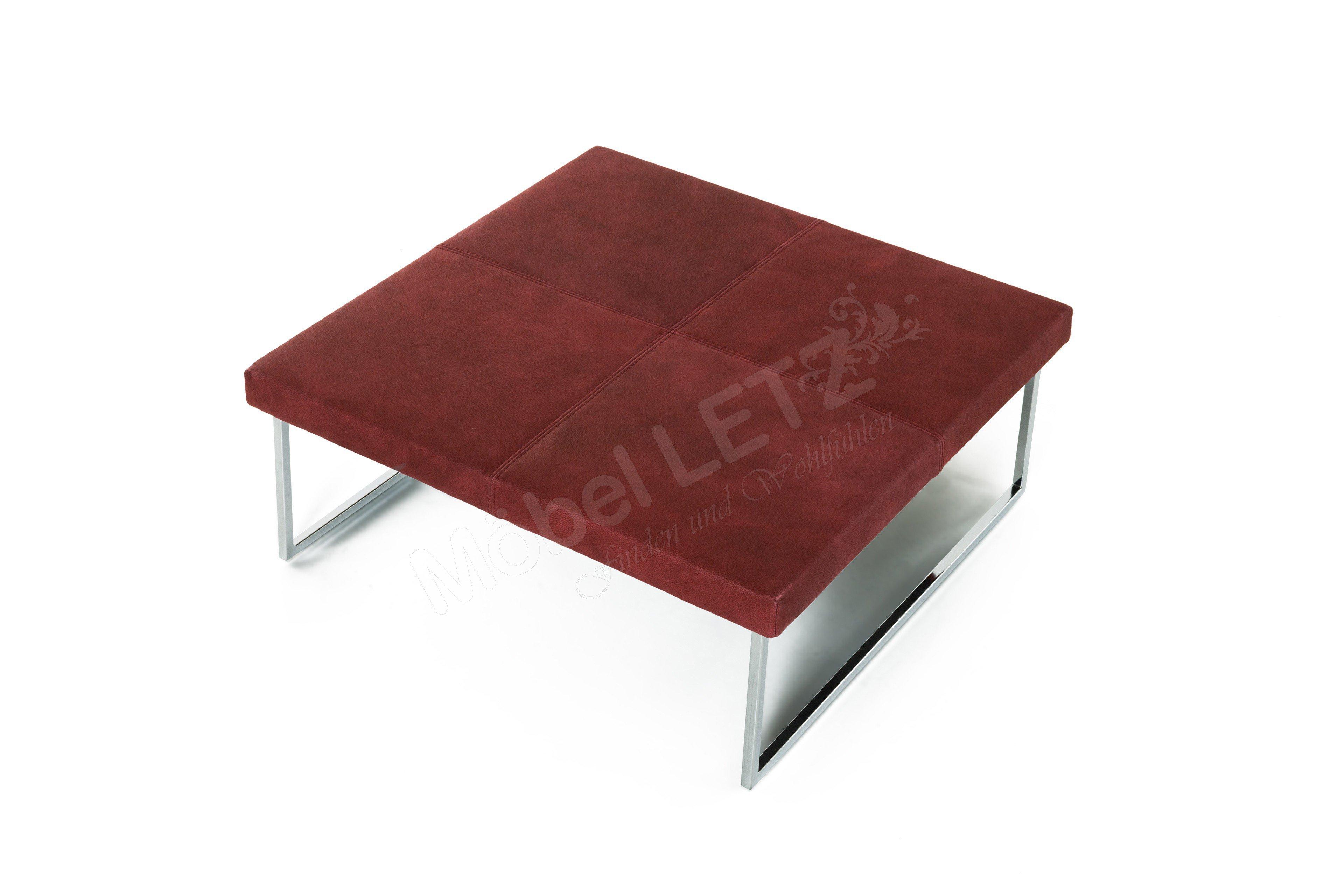 Couchtisch 7792 von k w polsterm bel in rot l m bel letz for Couchtisch rot