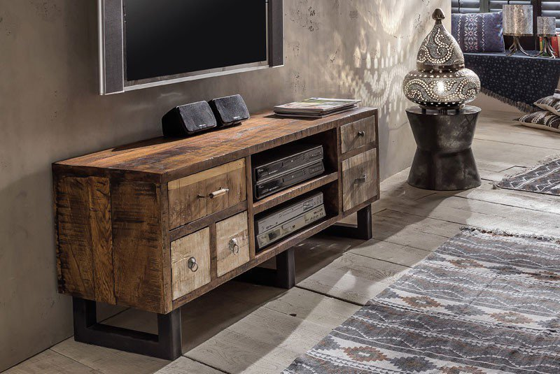 pure natur tv lowboard halla mangoholz vintage m bel. Black Bedroom Furniture Sets. Home Design Ideas