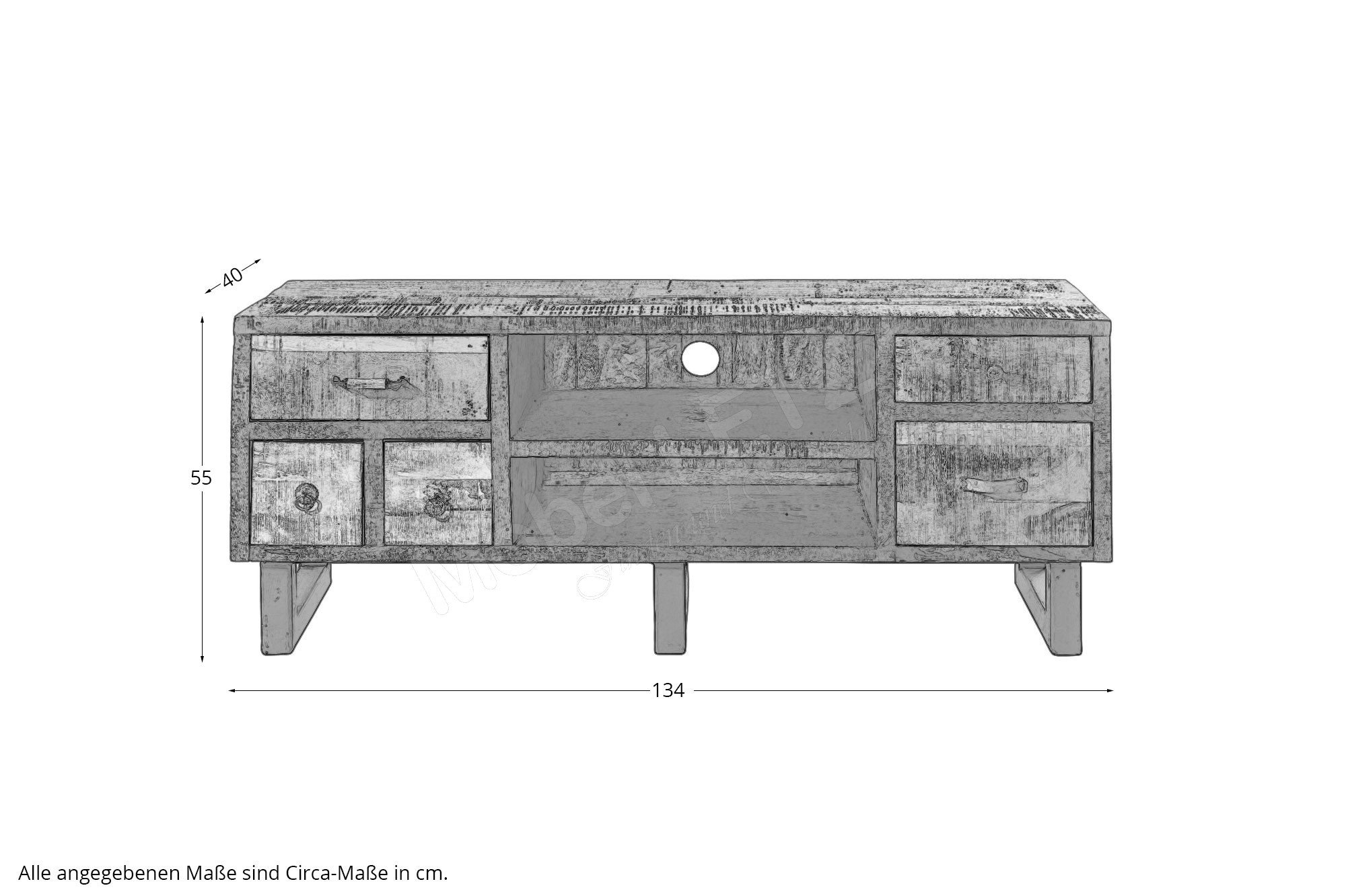 pure natur tv lowboard halla mangoholz vintage m bel letz ihr online shop. Black Bedroom Furniture Sets. Home Design Ideas