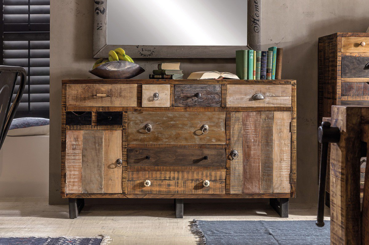 pure natur sideboard halla mangoholz vintage m bel letz ihr online shop. Black Bedroom Furniture Sets. Home Design Ideas