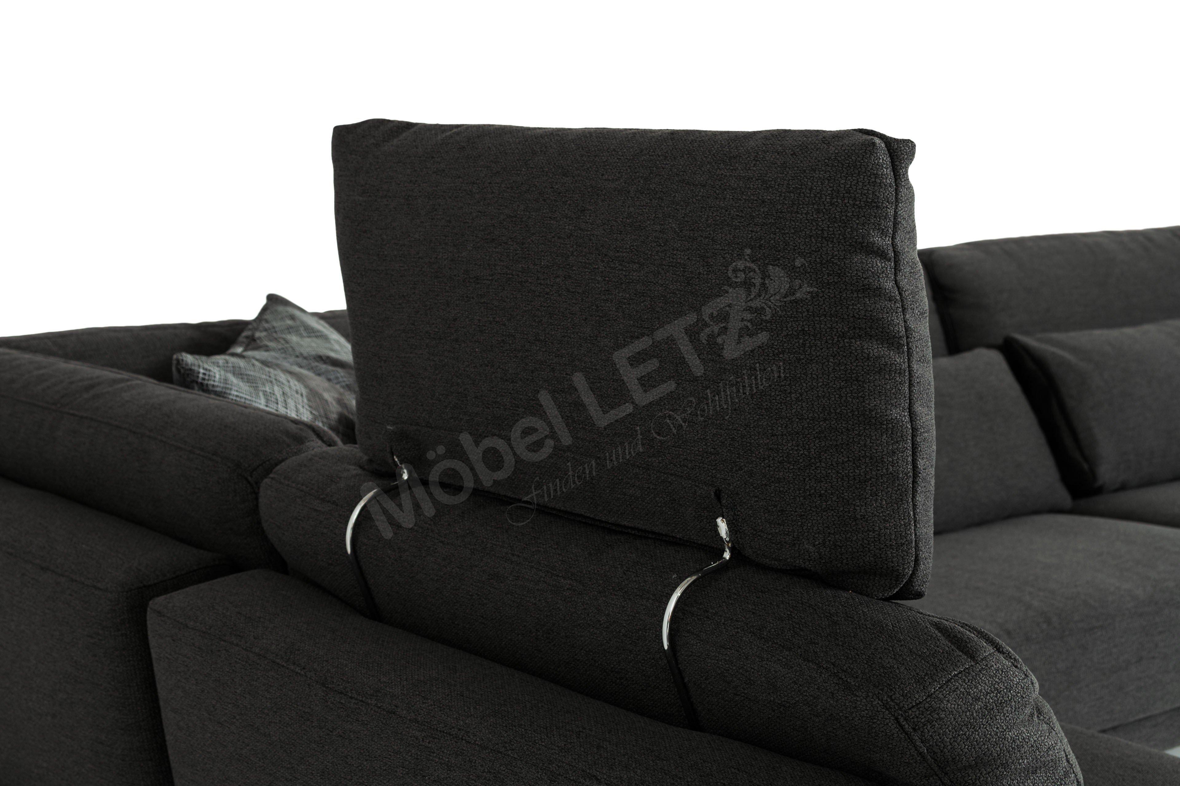 k w polsterm bel melody 7266 couchgarnitur in anthrazit m bel letz ihr online shop. Black Bedroom Furniture Sets. Home Design Ideas