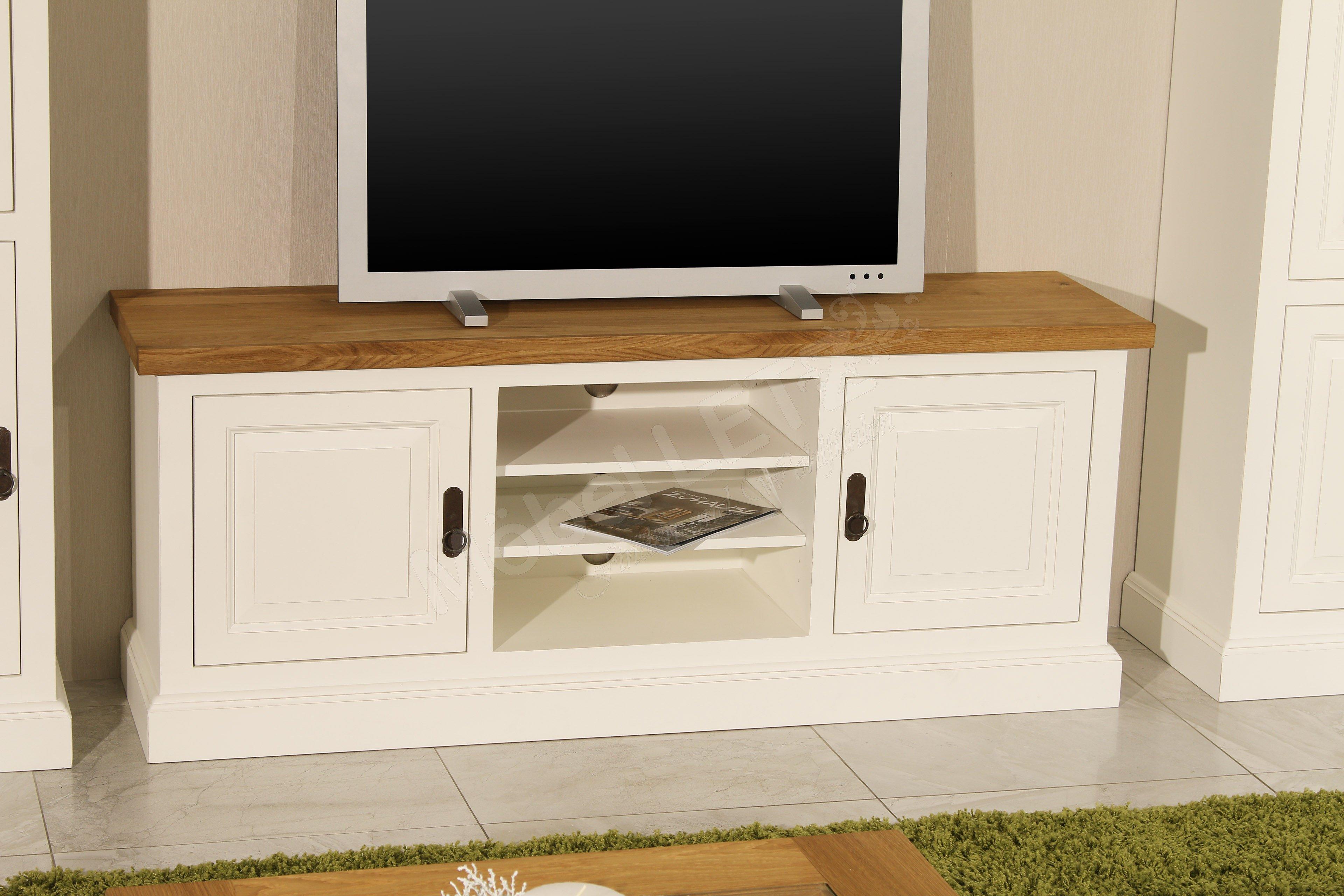 pure natur wohnwand loki massivholz wei m bel letz ihr online shop. Black Bedroom Furniture Sets. Home Design Ideas