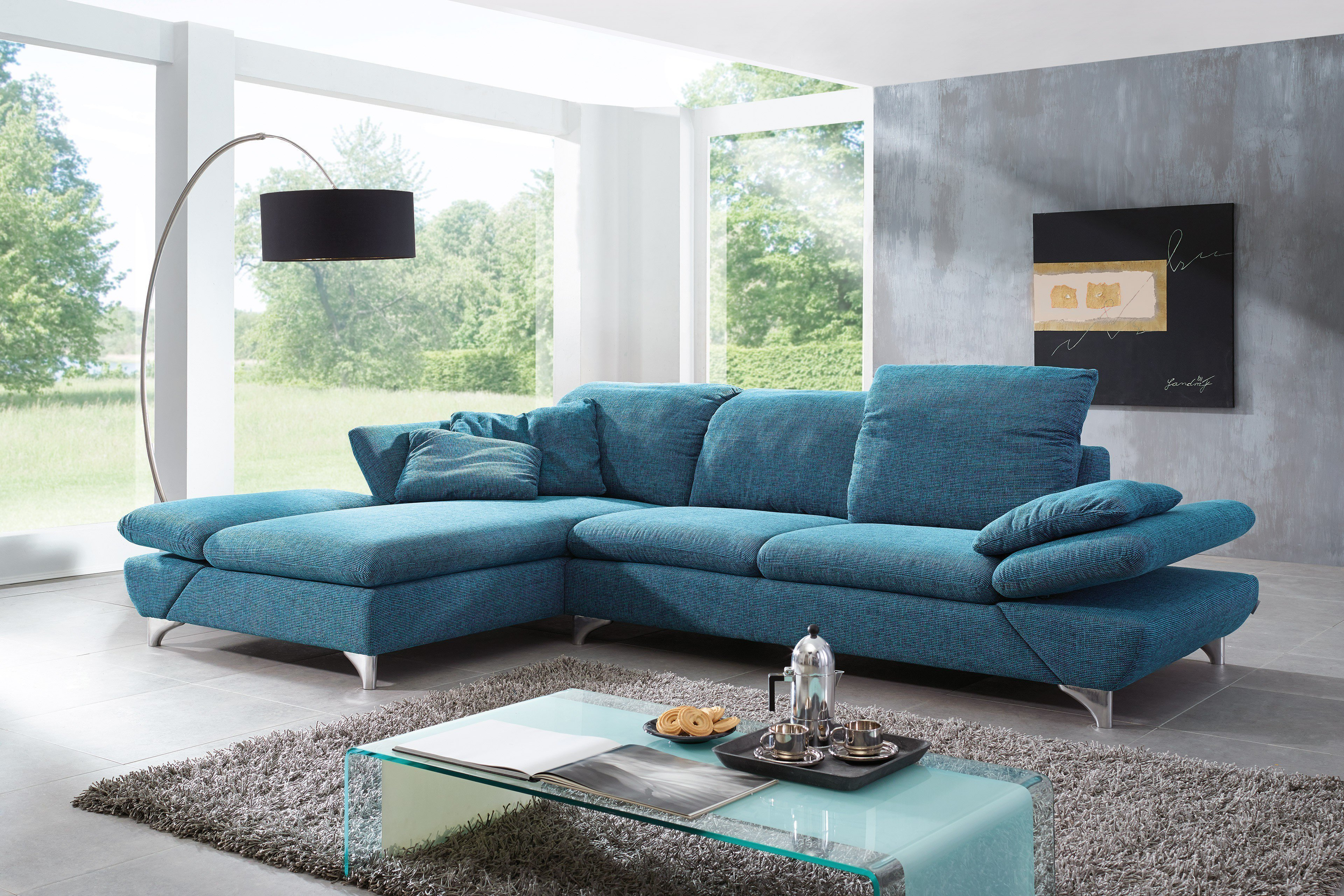 willi schillig 15278 taoo eckgarnitur petrol m bel letz ihr online shop. Black Bedroom Furniture Sets. Home Design Ideas