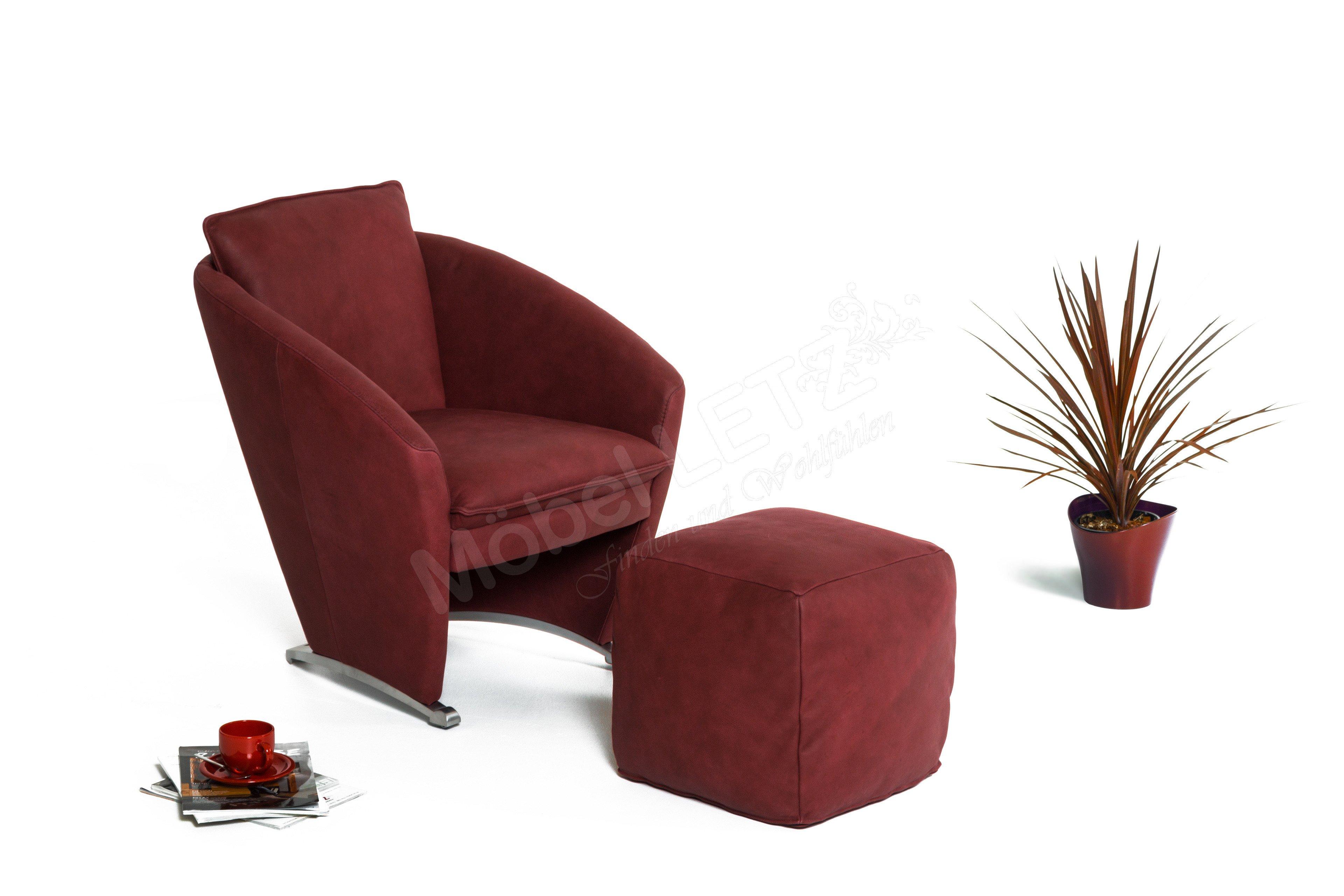 k w polsterm bel 7356 einzelsessel in weinrot m bel letz ihr online shop. Black Bedroom Furniture Sets. Home Design Ideas