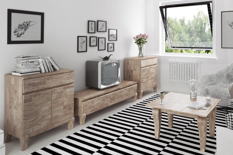 The Beds Wohnwand Bona Eiche Weiss Geolt Mobel Letz Ihr Online Shop