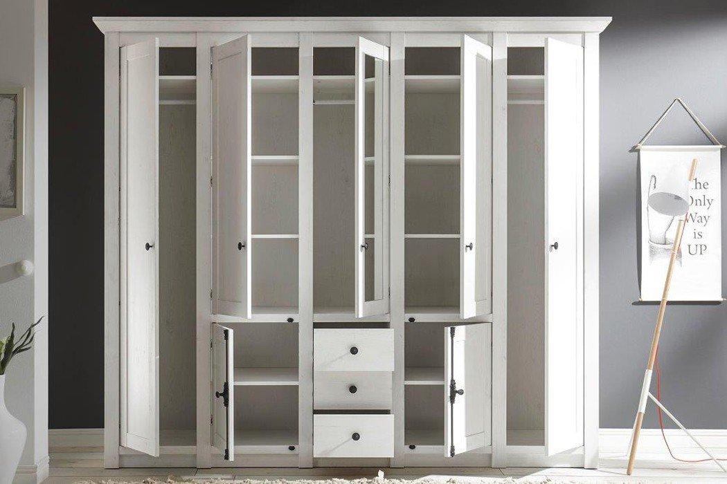 imv steinheim kleiderschrank westerland pinie wei m bel letz ihr online shop. Black Bedroom Furniture Sets. Home Design Ideas