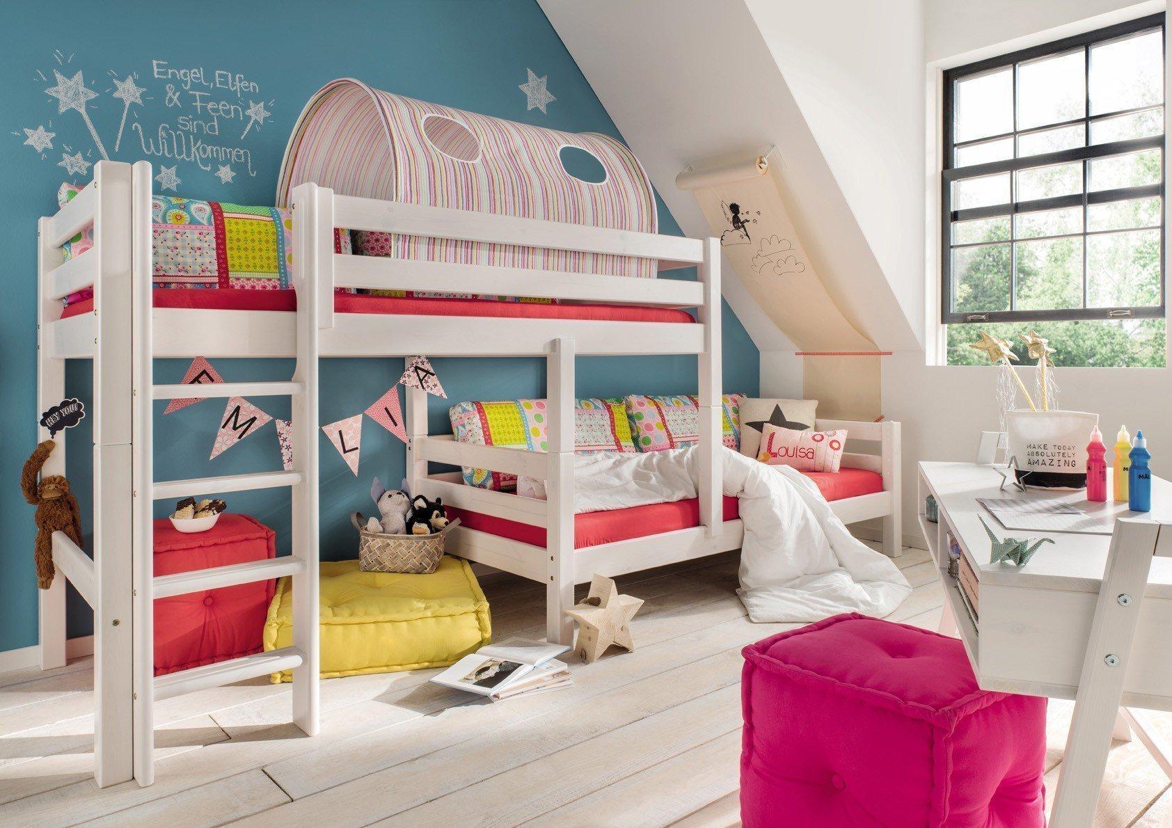 Etagenbett Dachschräge : Infanskids bettkombination etagenbett für dachschräge möbel