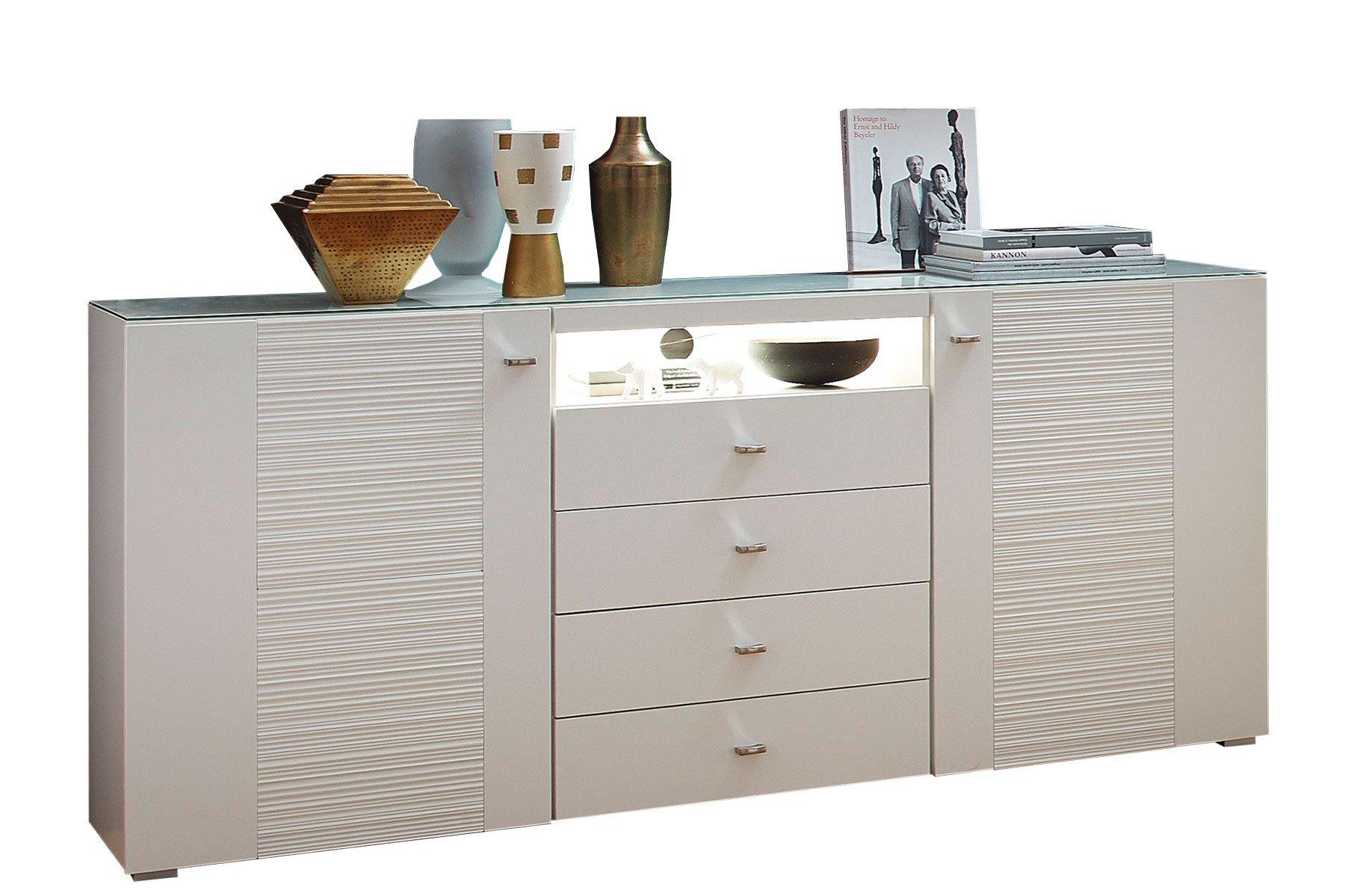 innostyle wohnwand durban wei matt m bel letz ihr. Black Bedroom Furniture Sets. Home Design Ideas