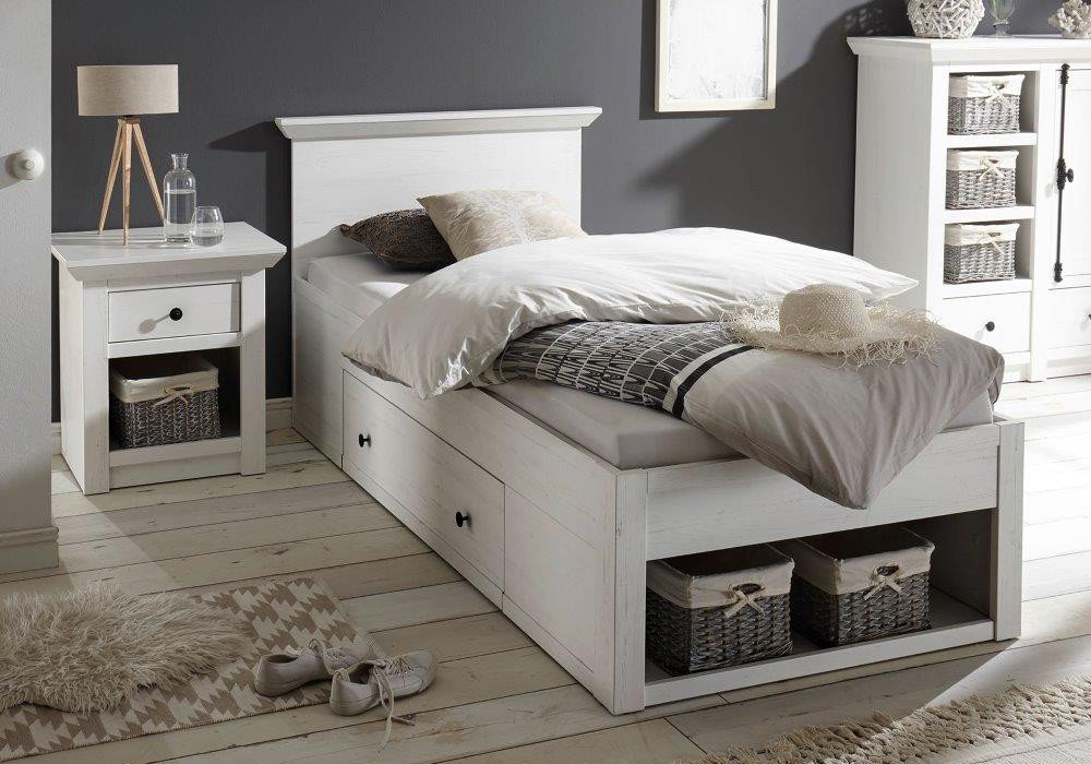 einzelbett wei mit schubladen. Black Bedroom Furniture Sets. Home Design Ideas