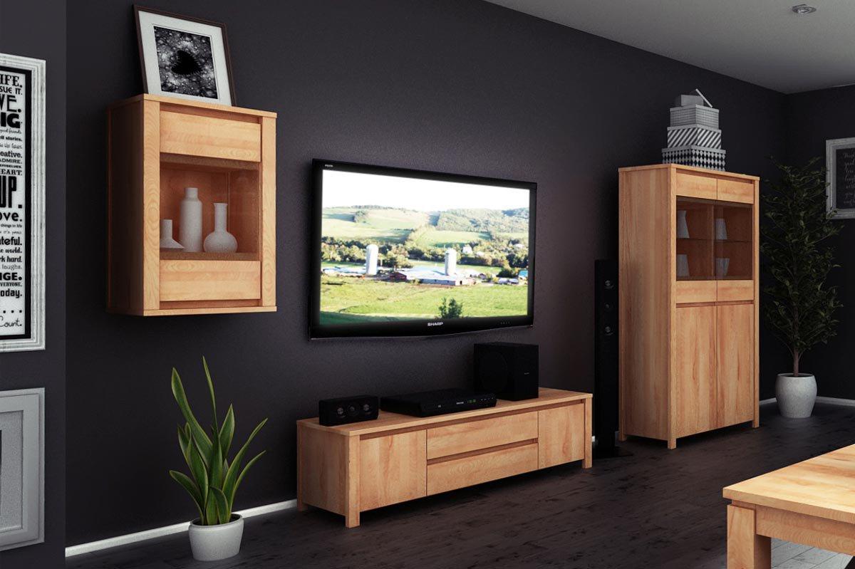 the beds wohnwand vinci buche natur ge lt m bel letz. Black Bedroom Furniture Sets. Home Design Ideas