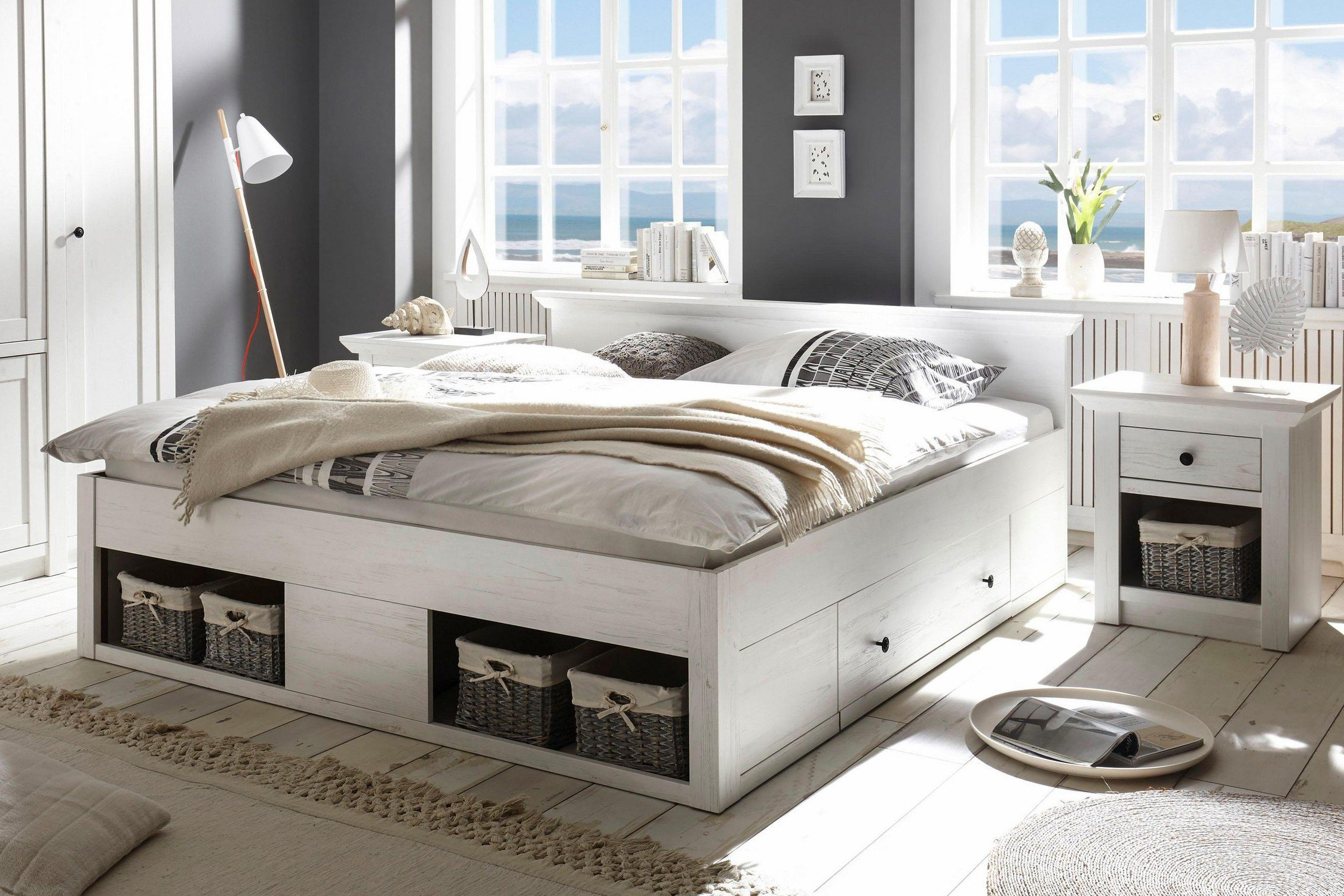 imv steinheim doppelbett westerland wei m bel letz ihr online shop. Black Bedroom Furniture Sets. Home Design Ideas