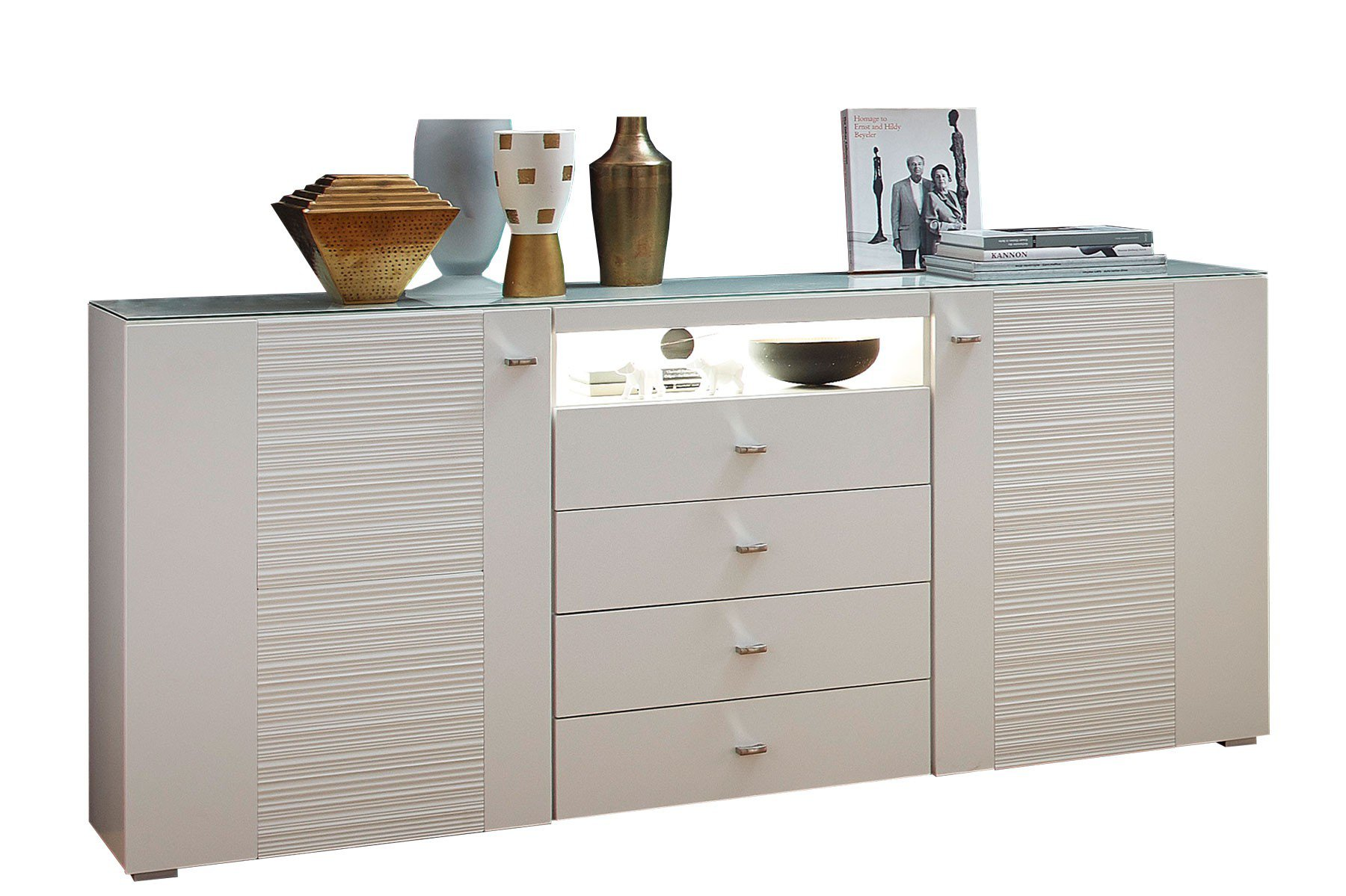 innostyle sideboard durban wei matt m bel letz ihr online shop. Black Bedroom Furniture Sets. Home Design Ideas
