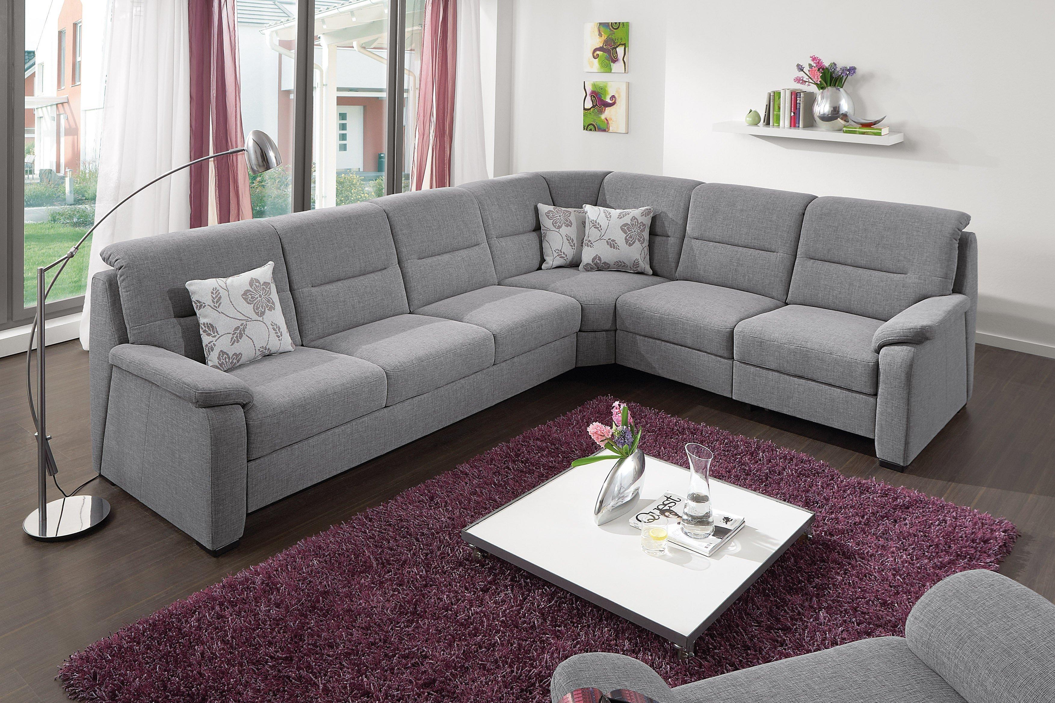 polipol polsterm bel eckcouch monroe grau m bel letz. Black Bedroom Furniture Sets. Home Design Ideas