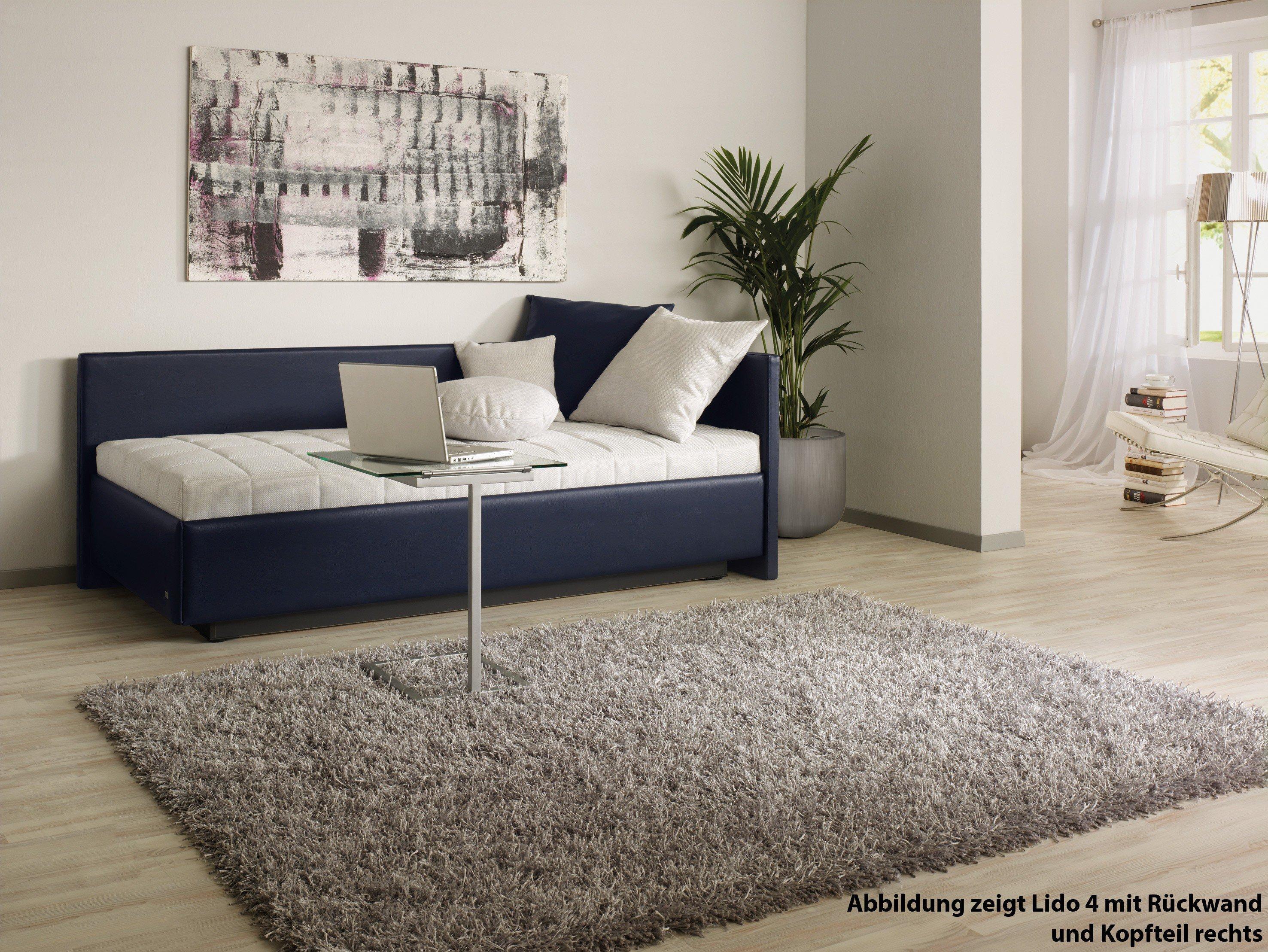 ruf polsterbett modell lido in dunkelblau mit bettkasten m bel letz ihr online shop. Black Bedroom Furniture Sets. Home Design Ideas