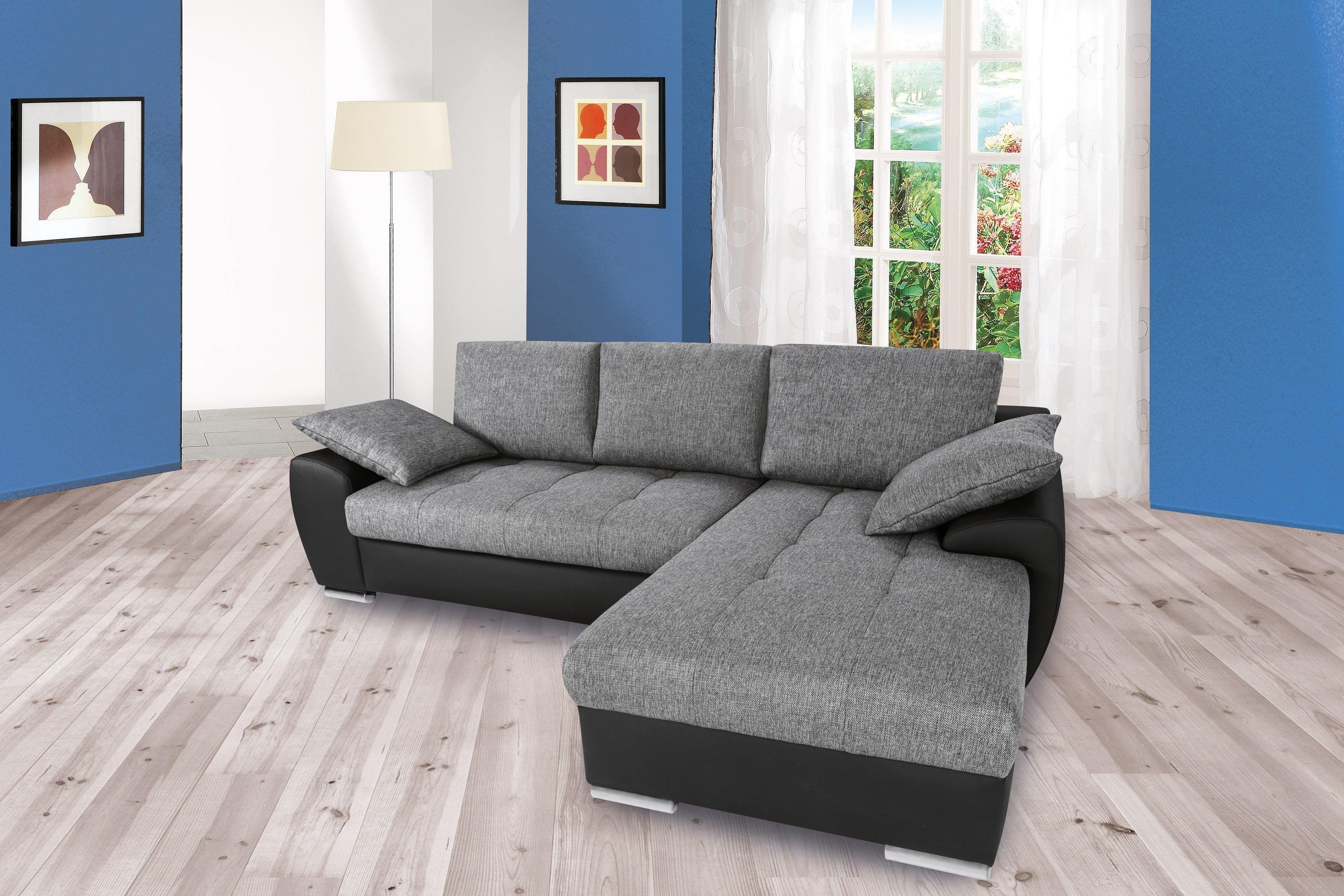 nova via madrid polsterecke grau schwarz m bel letz. Black Bedroom Furniture Sets. Home Design Ideas