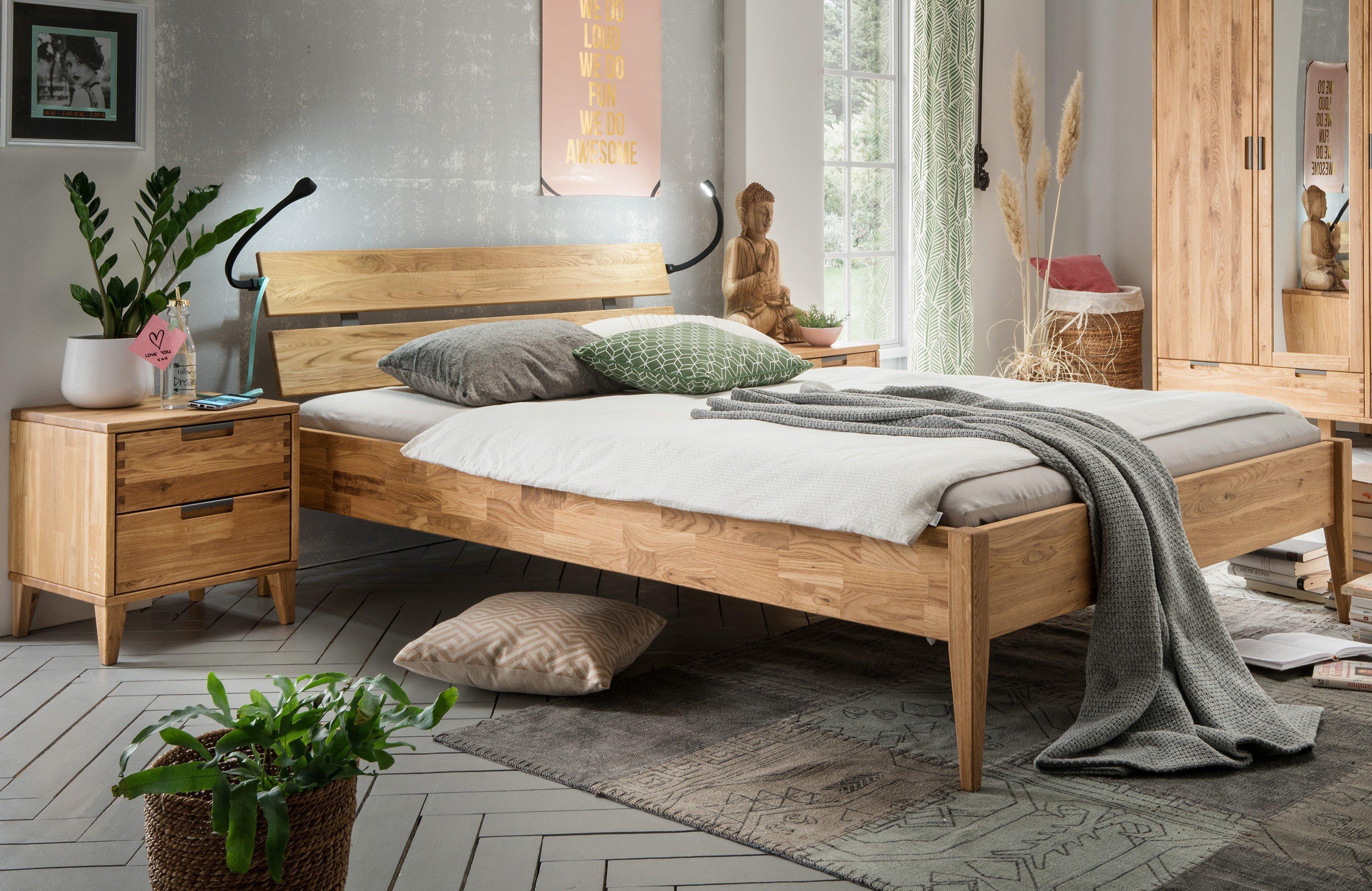 Bett Mido von SKALIK Eiche geölt natur   Möbel Letz - Ihr Online-Shop