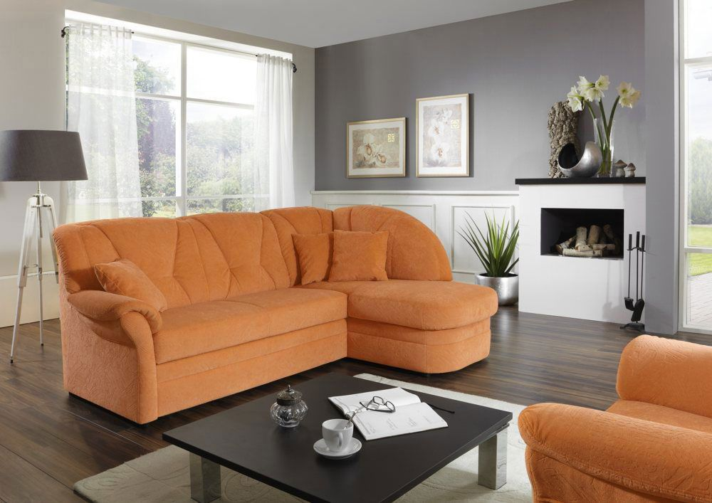 weimar von polipol ecksofa orange polsterm bel g nstig. Black Bedroom Furniture Sets. Home Design Ideas