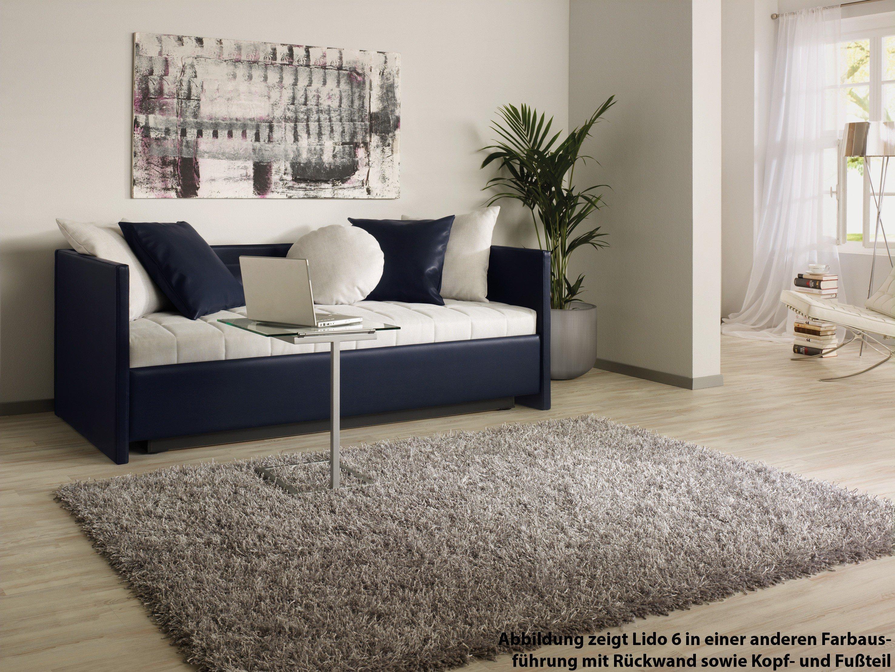 ruf polsterbett modell lido in beige mit r ckwand und kopfteil m bel letz ihr online shop. Black Bedroom Furniture Sets. Home Design Ideas