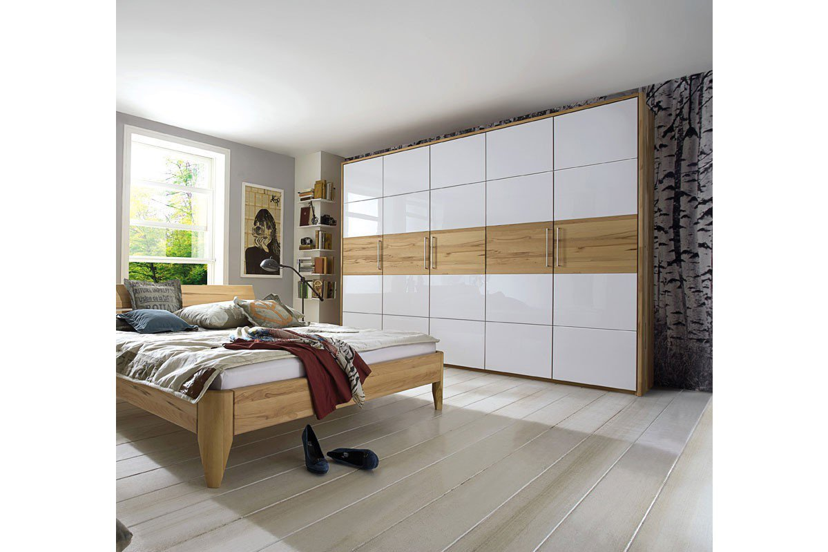 pure natur kleiderschrank 5 t rig buche wei m bel letz ihr online shop. Black Bedroom Furniture Sets. Home Design Ideas