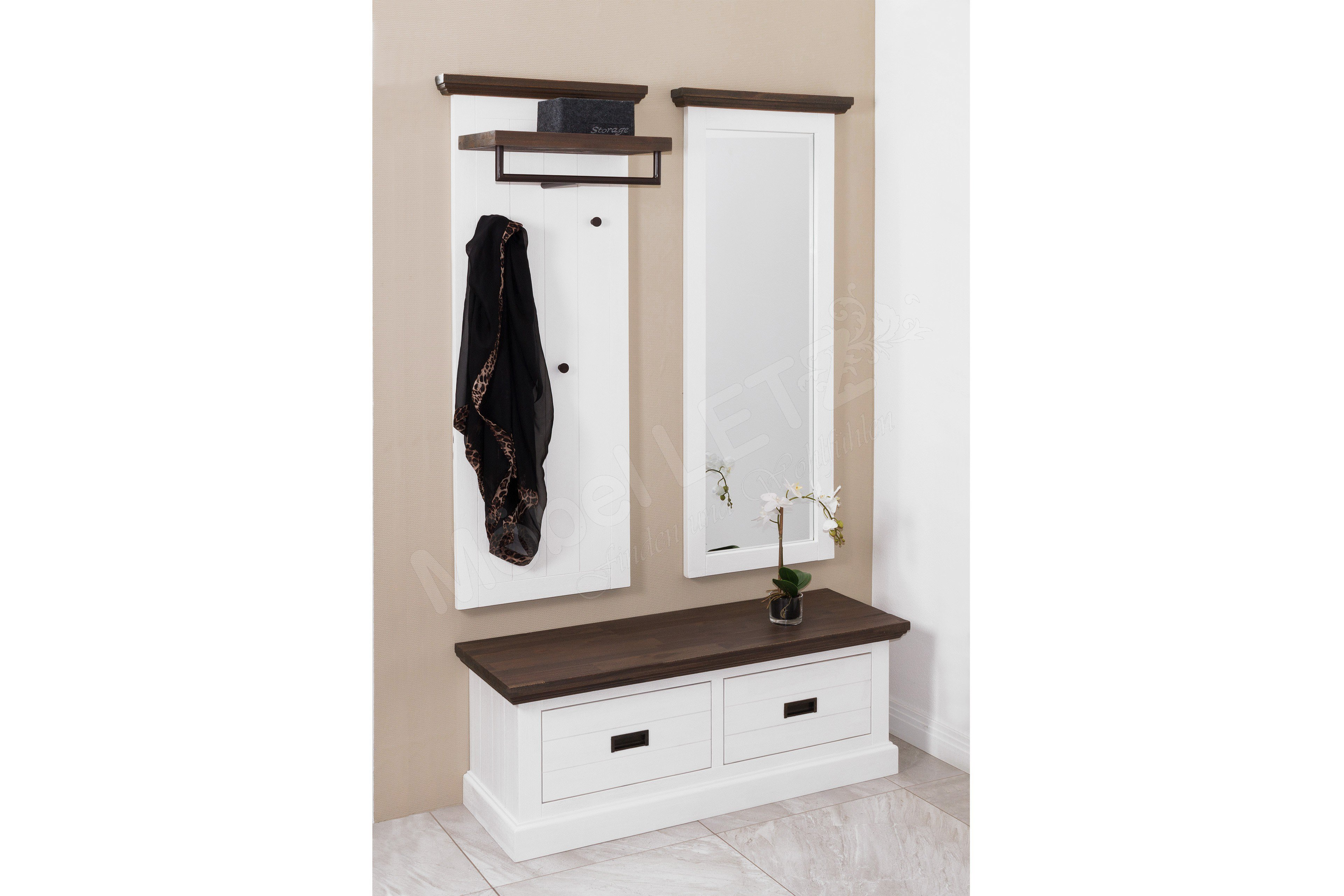 d869e1b0eb0086 Garderobe Gomera  Gesine in Weiß von MCA furniture