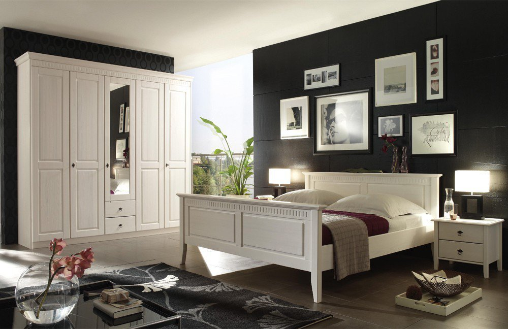 forestdream bozen schlafzimmer landhaus kiefer wei. Black Bedroom Furniture Sets. Home Design Ideas