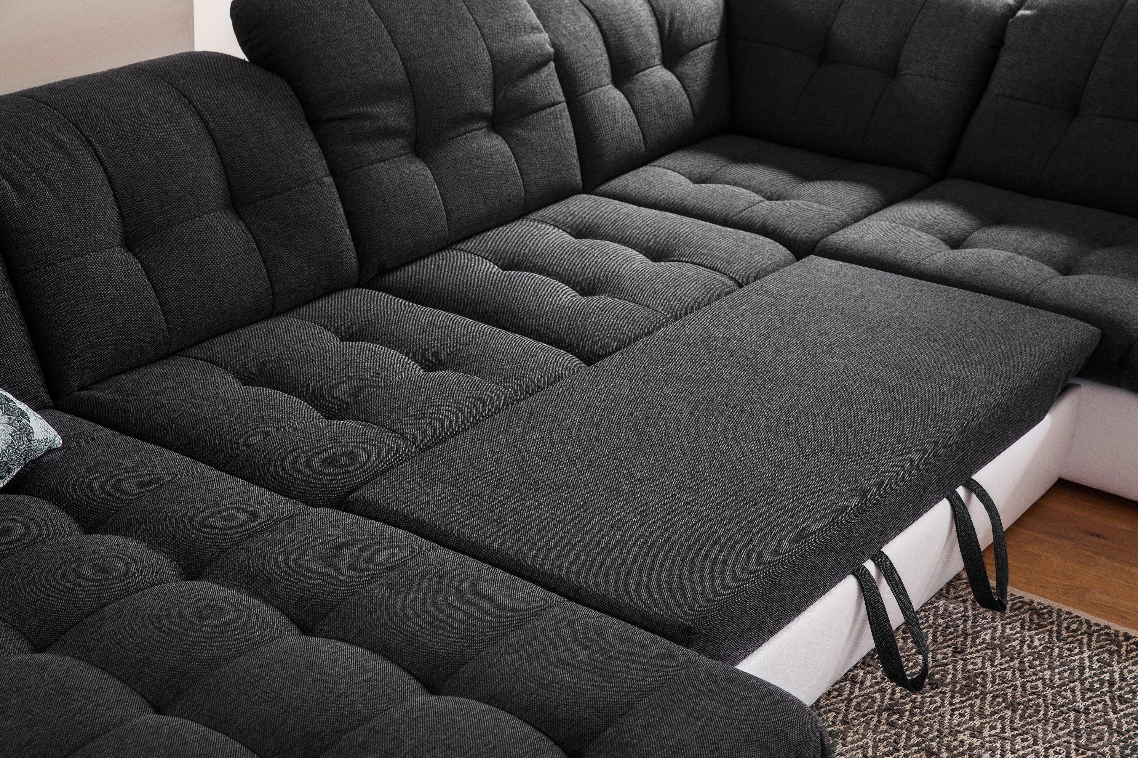 Nova Via Concorde Garnitur In Grau Weiß Möbel Letz Ihr Online Shop