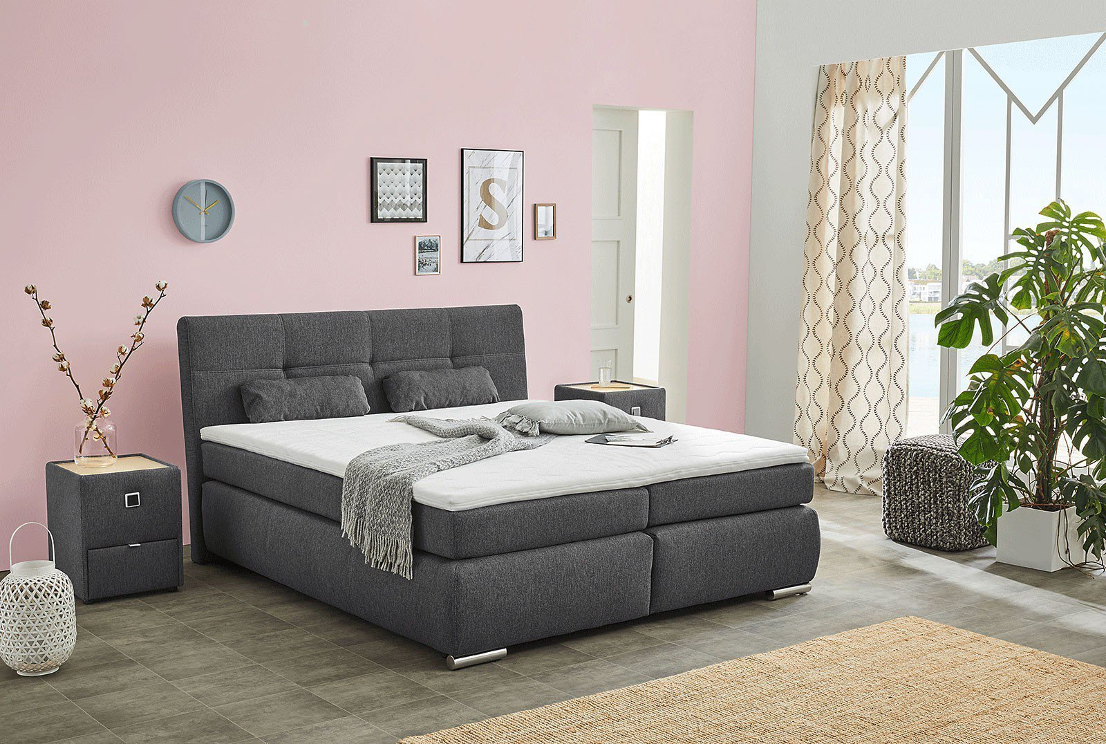 jockenh fer alexa boxspringbett mit bettkasten m bel letz ihr online shop. Black Bedroom Furniture Sets. Home Design Ideas