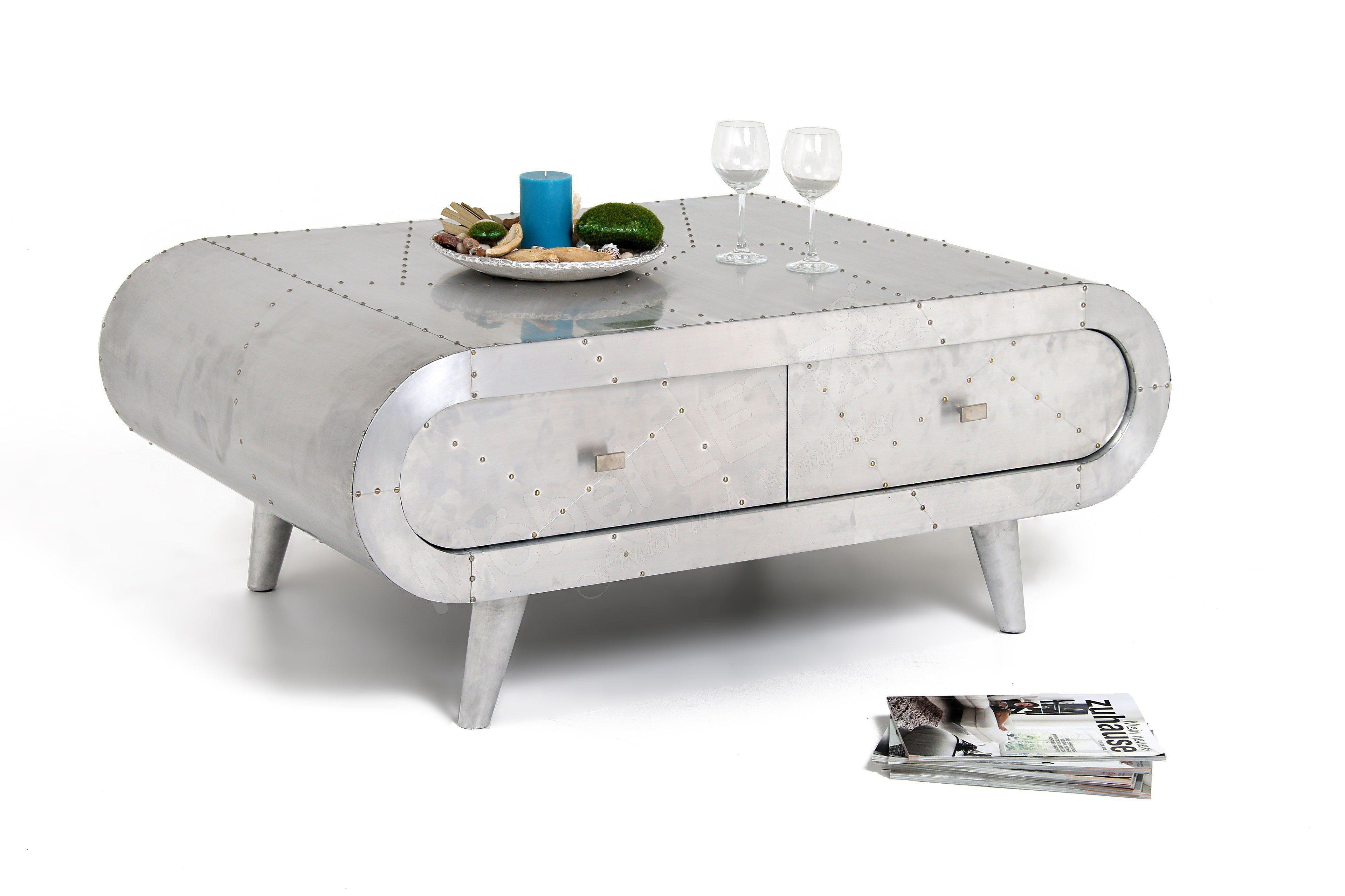 couchtisch philadelphia in alu optik aus der kollektion letz m bel letz ihr online shop. Black Bedroom Furniture Sets. Home Design Ideas