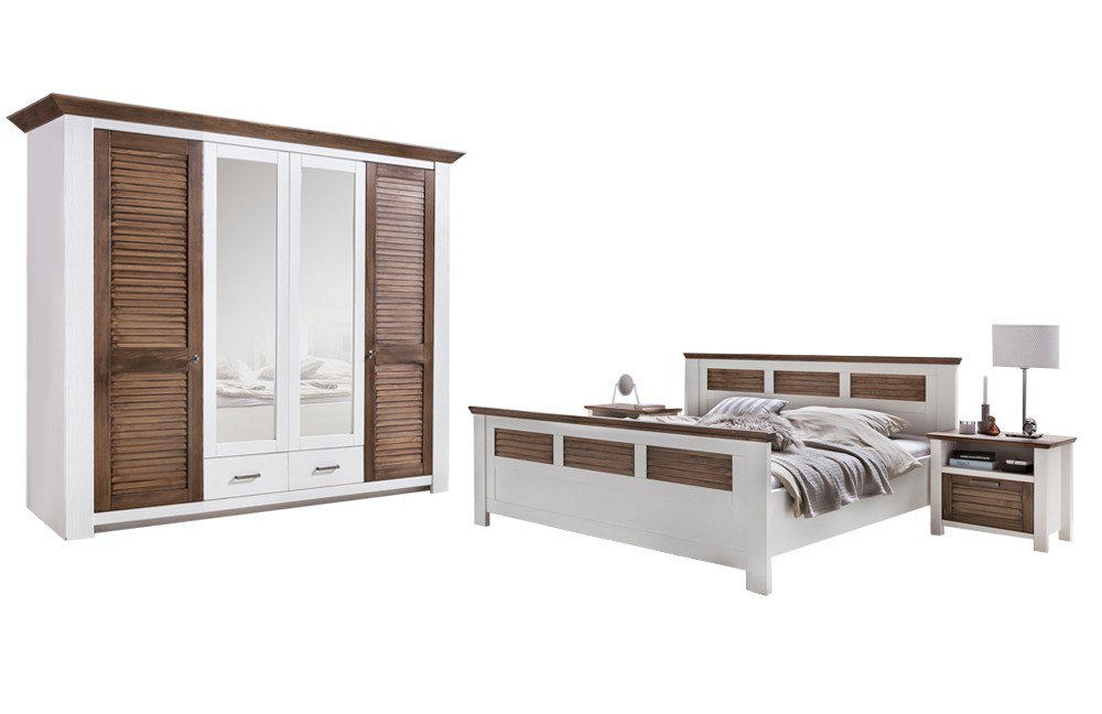 Laguna Telmex Schlafzimmer-Set Pinie Weiß | Möbel Letz - Ihr