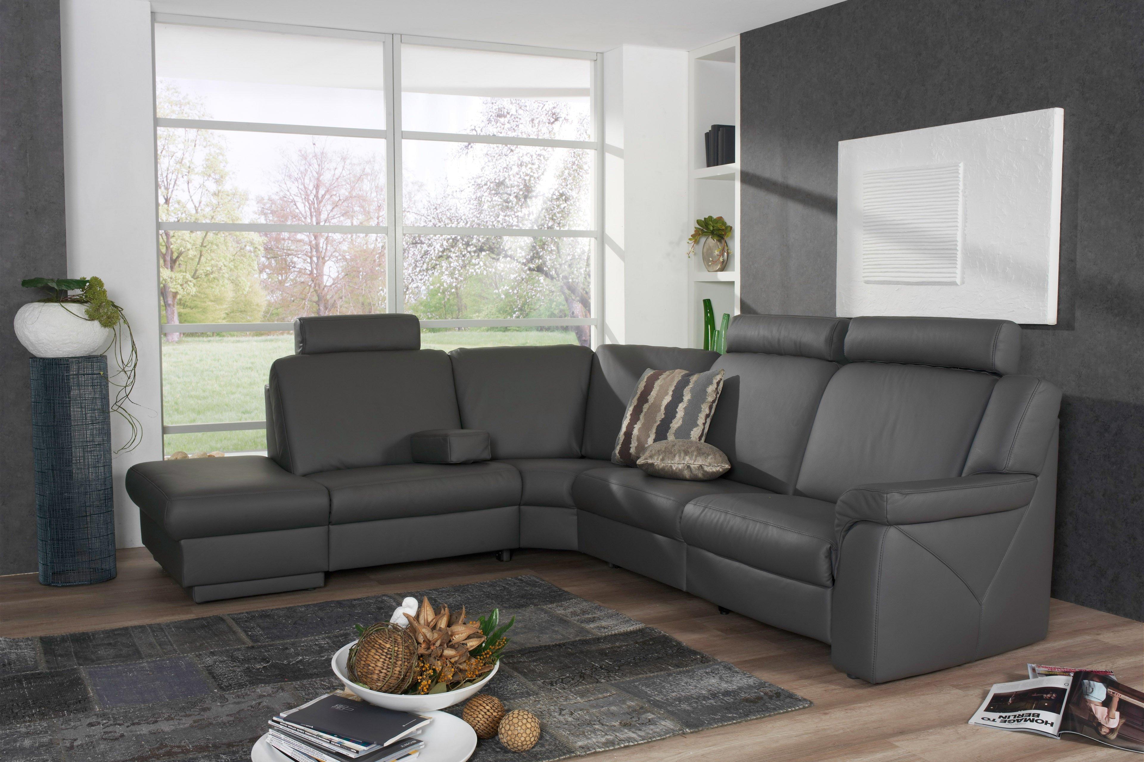 himolla polsterm bel 1500 halle wohnlandschaft in grau. Black Bedroom Furniture Sets. Home Design Ideas