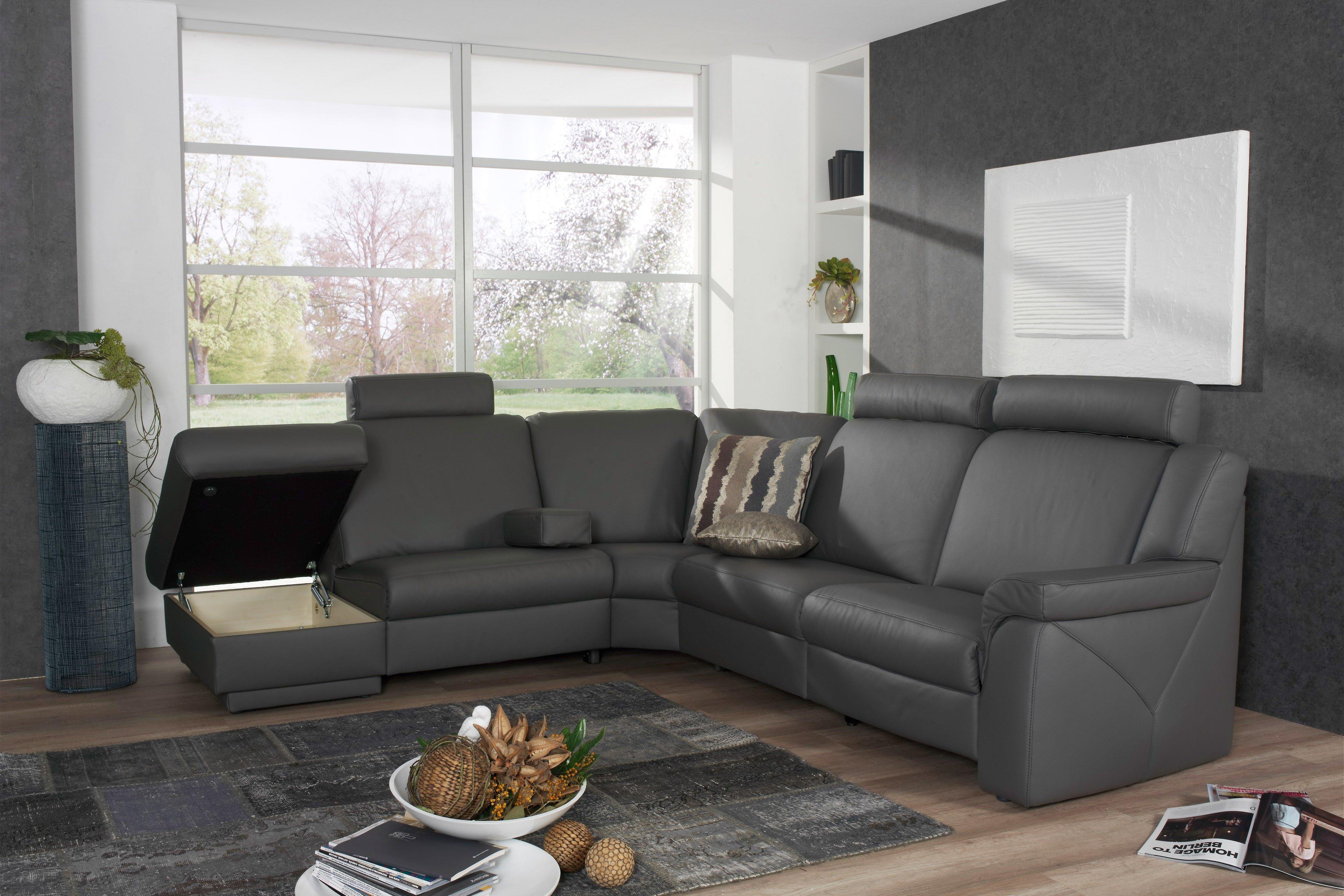 himolla polsterm bel 1500 halle wohnlandschaft in grau braun m bel letz ihr online shop. Black Bedroom Furniture Sets. Home Design Ideas