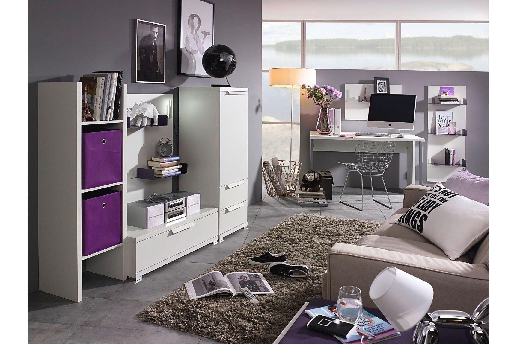 rauch nice4teens wohnwand kombi wei m bel letz ihr online shop. Black Bedroom Furniture Sets. Home Design Ideas