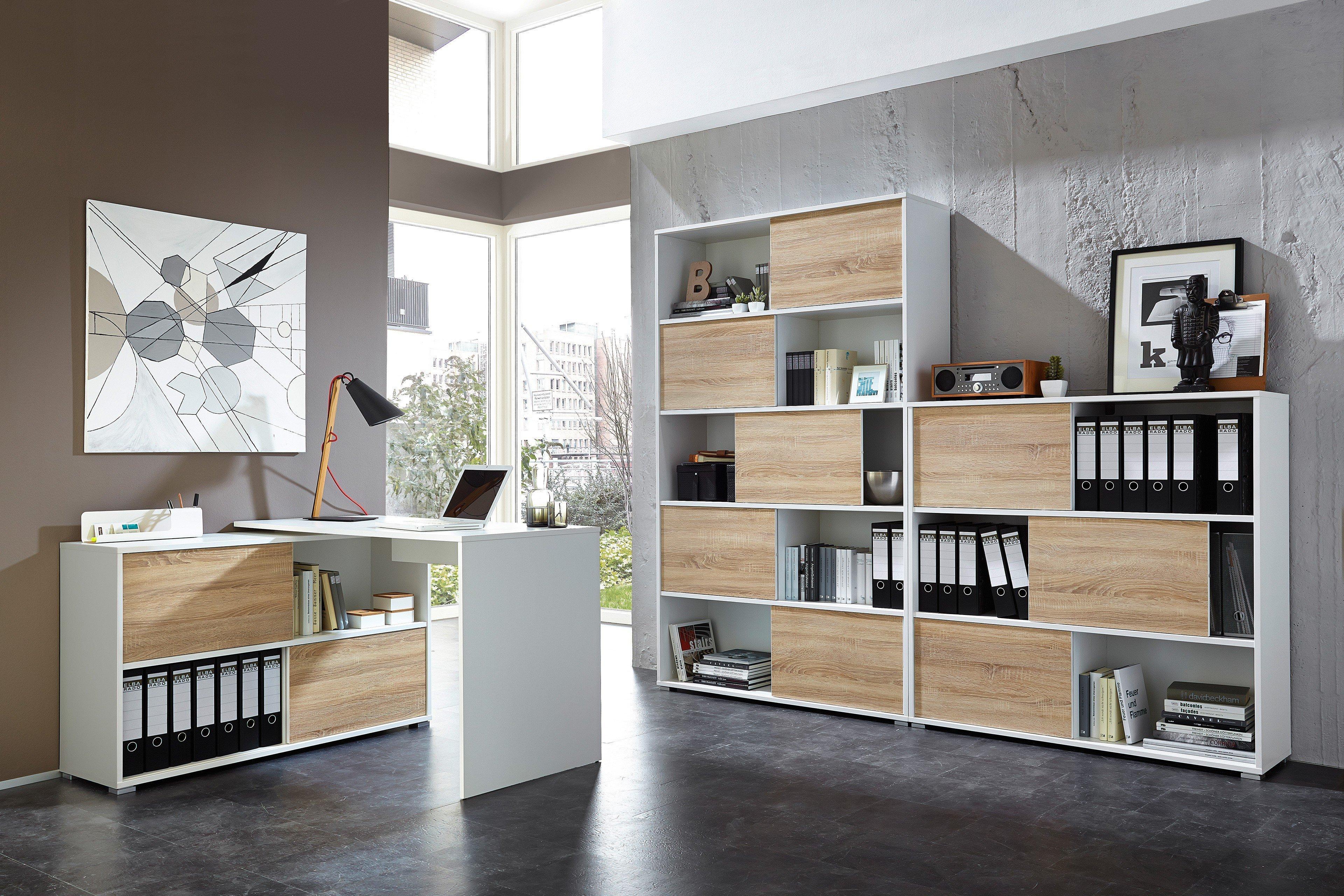 Schreibtisch weiß mit regal  Germania Schreibtisch-Kombination Slide weiß | Möbel Letz - Ihr ...
