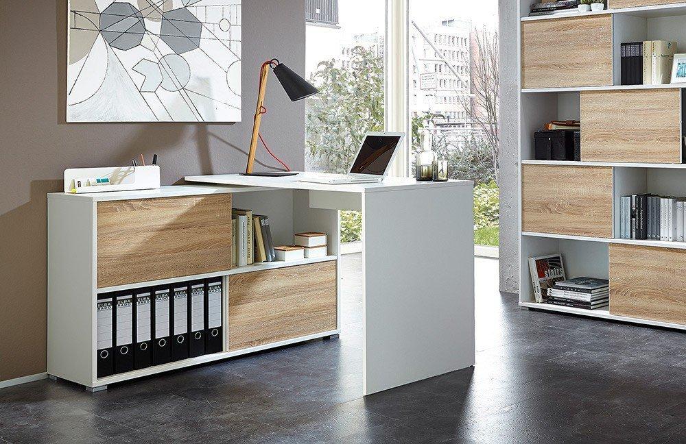 germania schreibtisch kombination slide wei m bel letz. Black Bedroom Furniture Sets. Home Design Ideas
