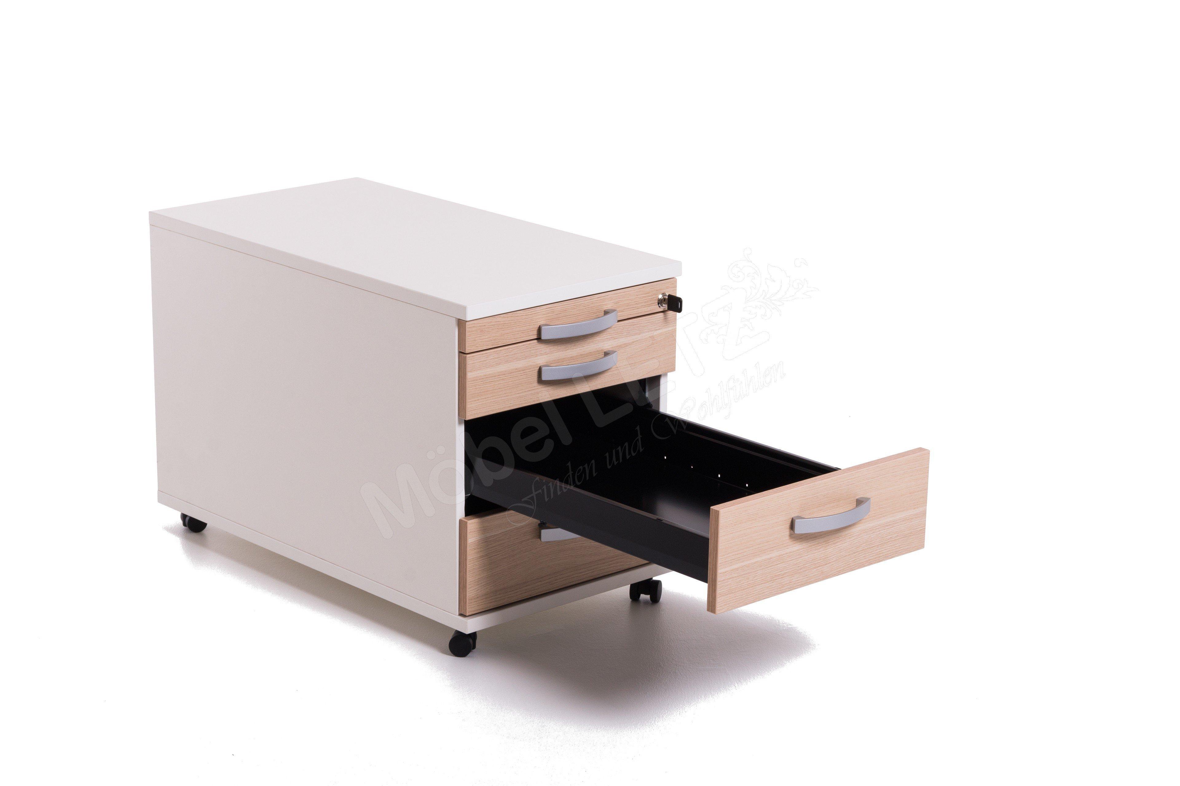 r hr bush techno rollcontainer wei eiche m bel letz ihr online shop. Black Bedroom Furniture Sets. Home Design Ideas