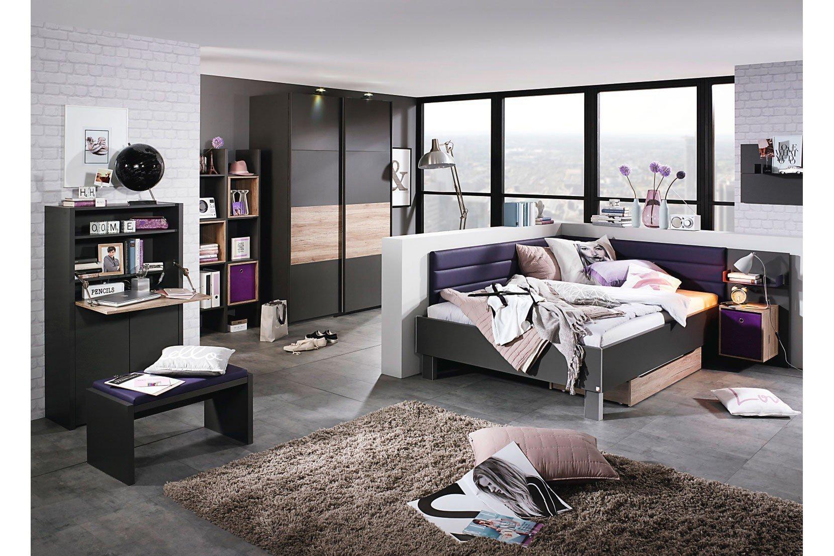 rauch nice4teens apartmentm bel 2 teilig graphit m bel letz ihr online shop. Black Bedroom Furniture Sets. Home Design Ideas