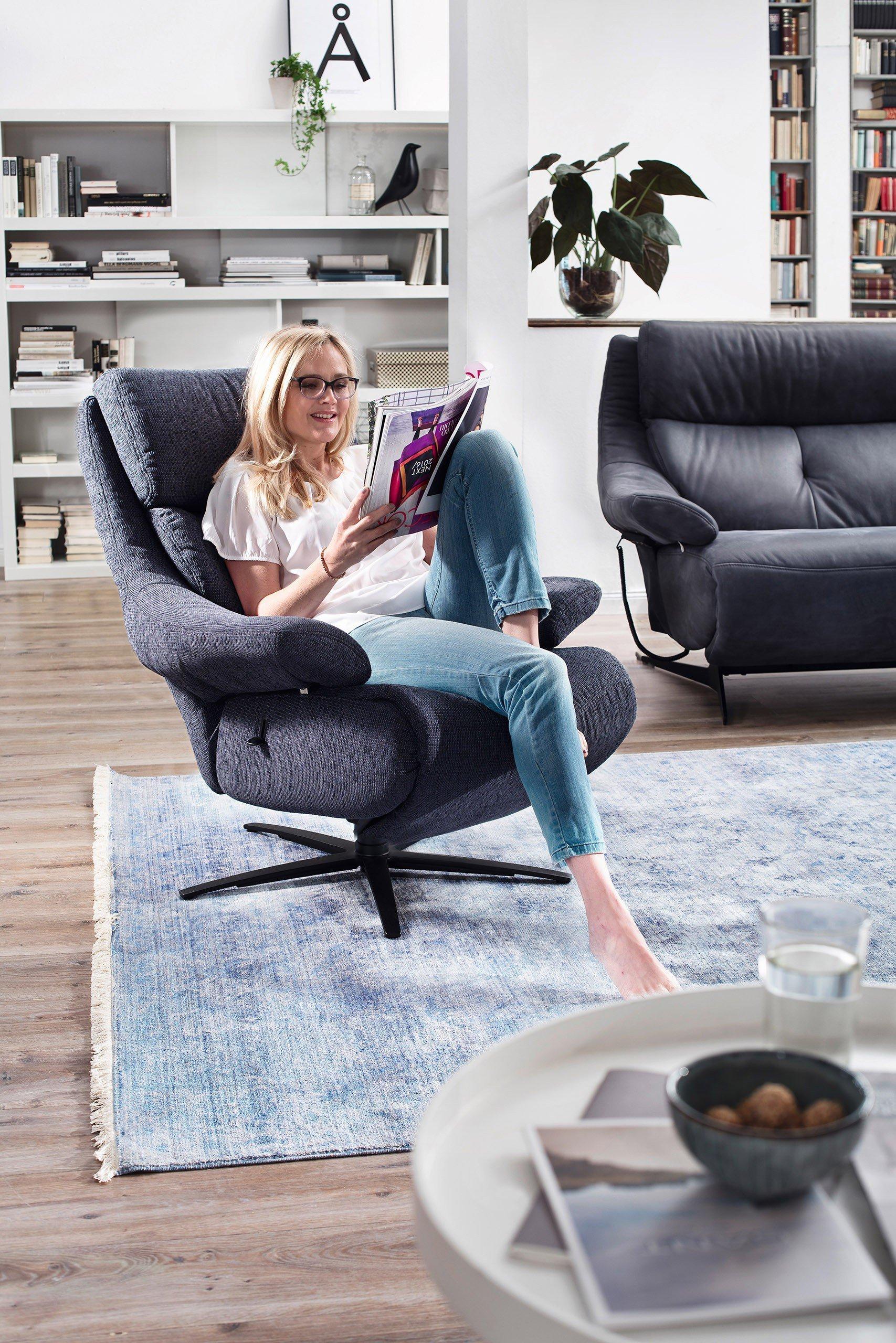 himolla polsterm bel 4702 ledergarnitur in blau m bel letz ihr online shop. Black Bedroom Furniture Sets. Home Design Ideas